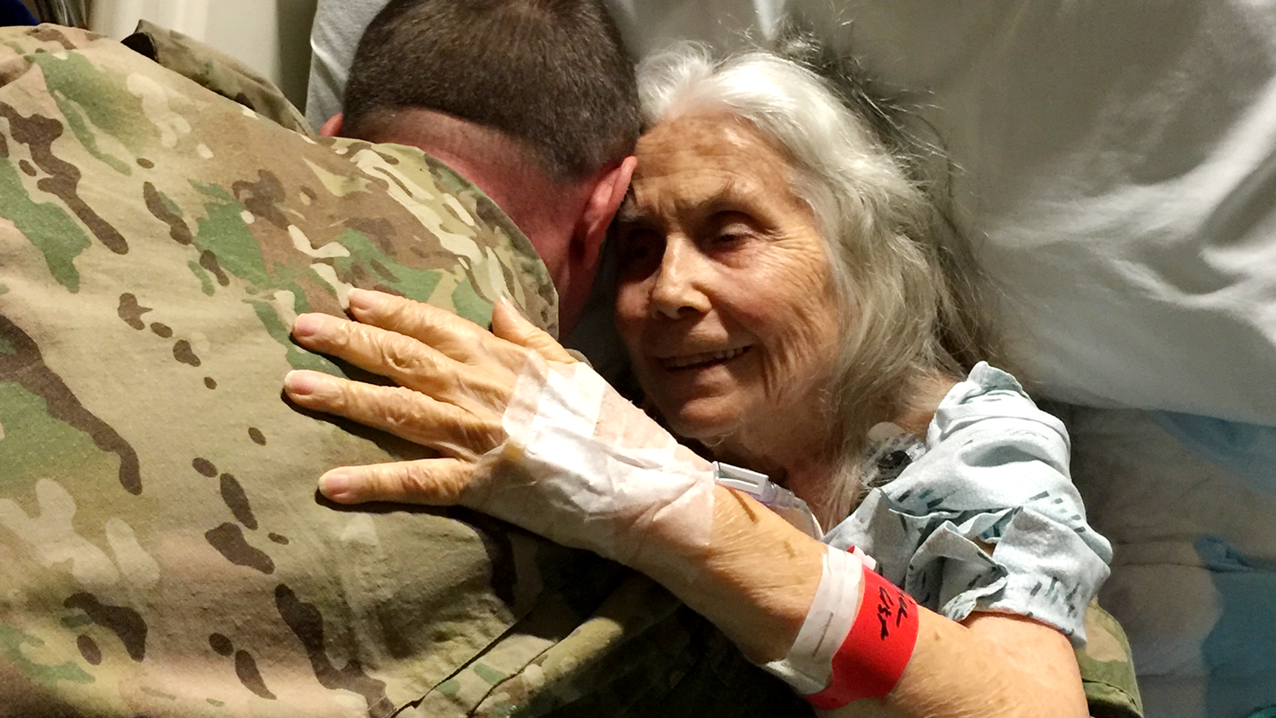 Beautiful Hug Lady Has Farewelled Soldiers For Years And
