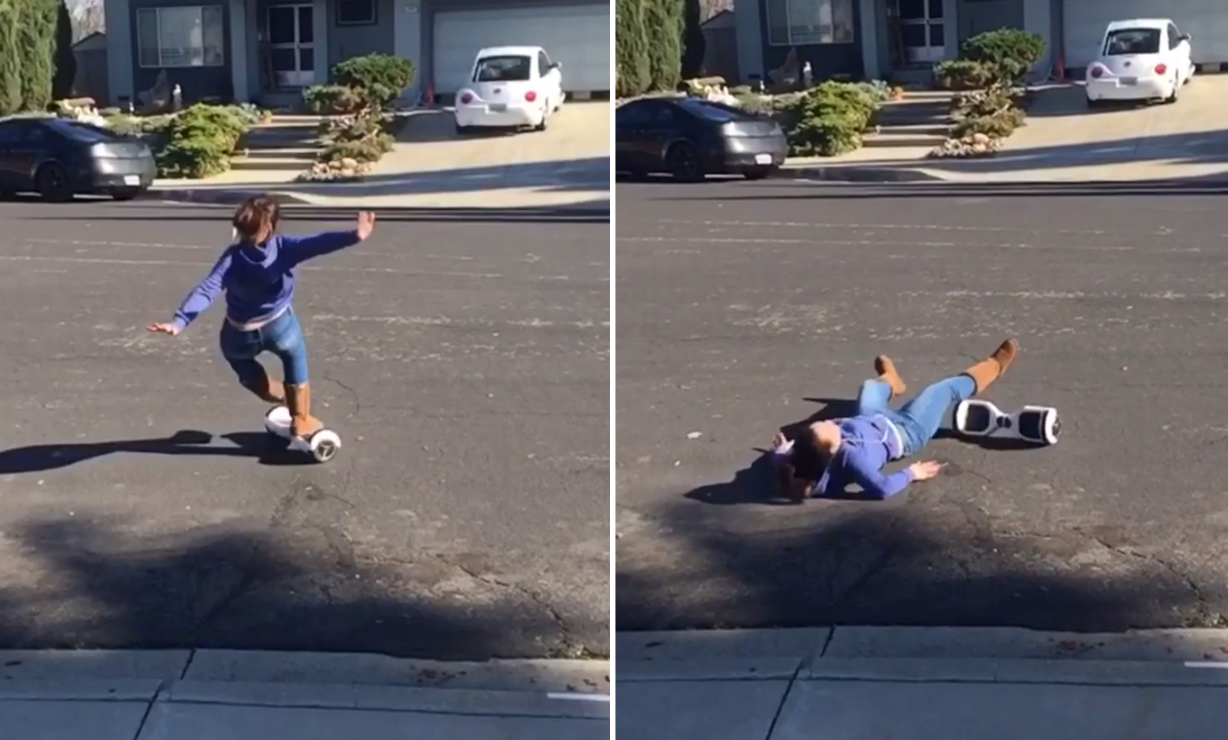 Hoverboard fails: People are falling off their Christmas gifts ...