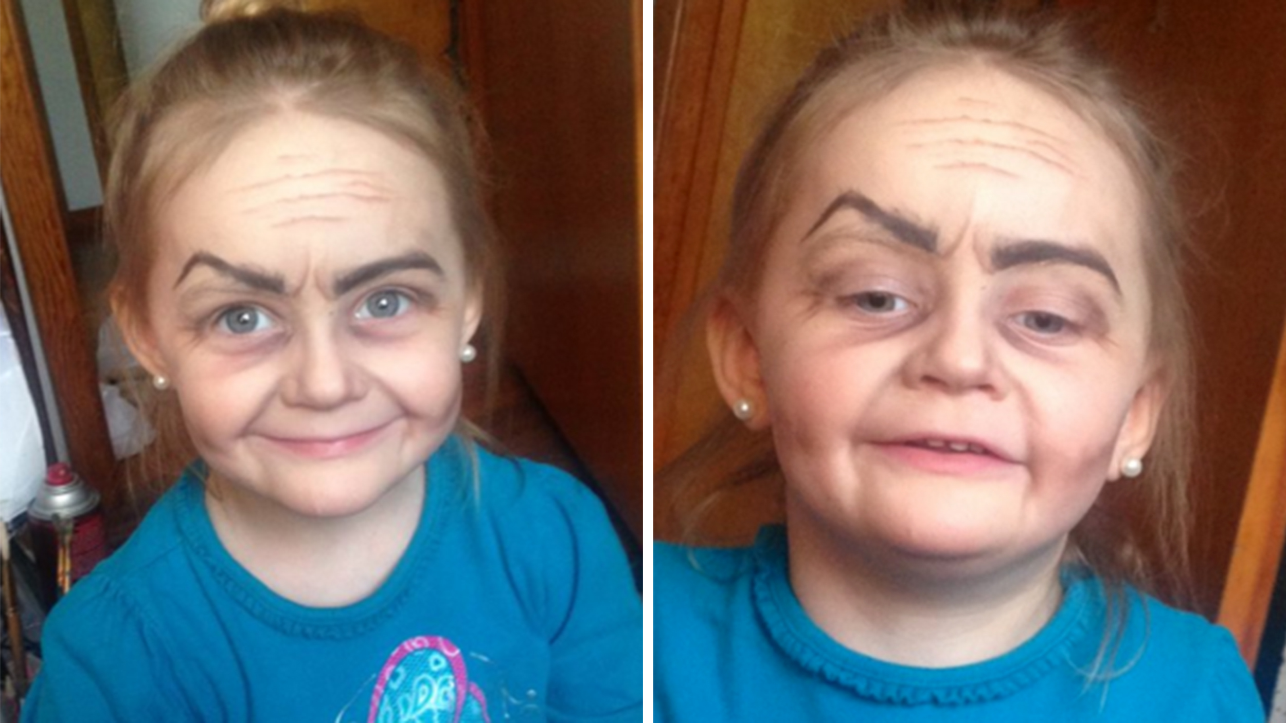 Fixer Upper Toddler Turned Into Little Old Lady By Makeup Wielding