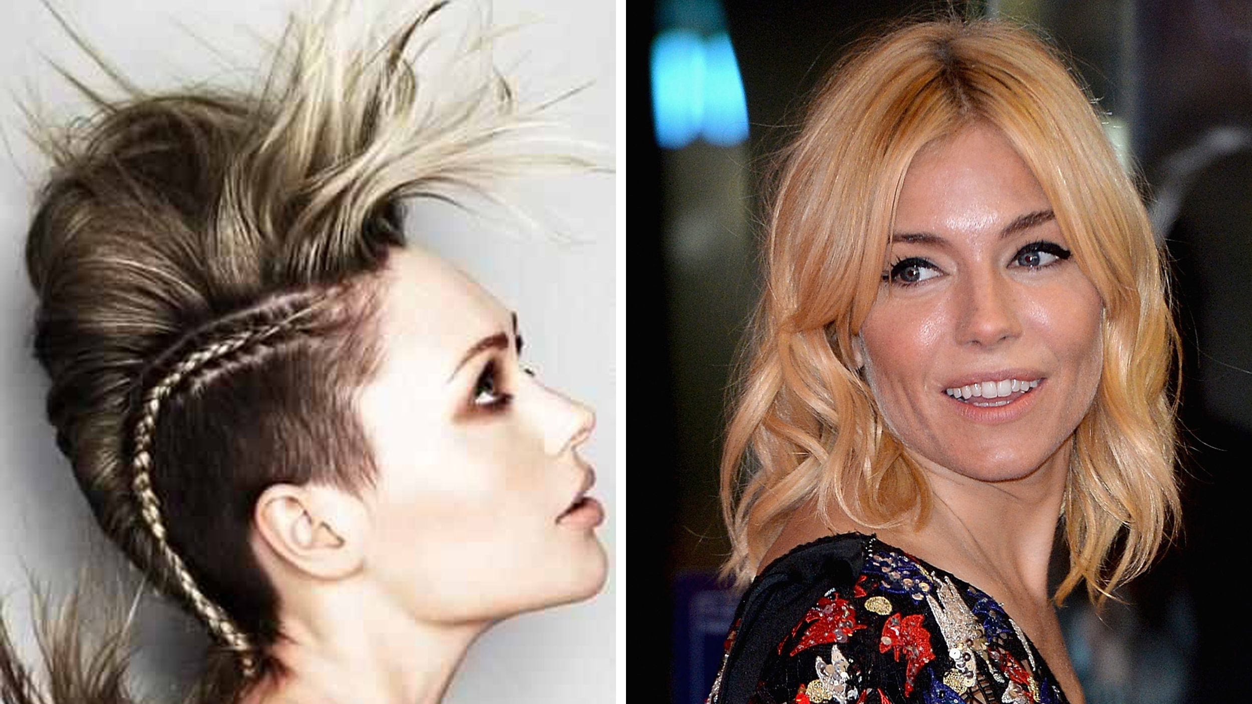 Hair Color Trends 2016 Rose Gold Color Shading Mohawk Highlights