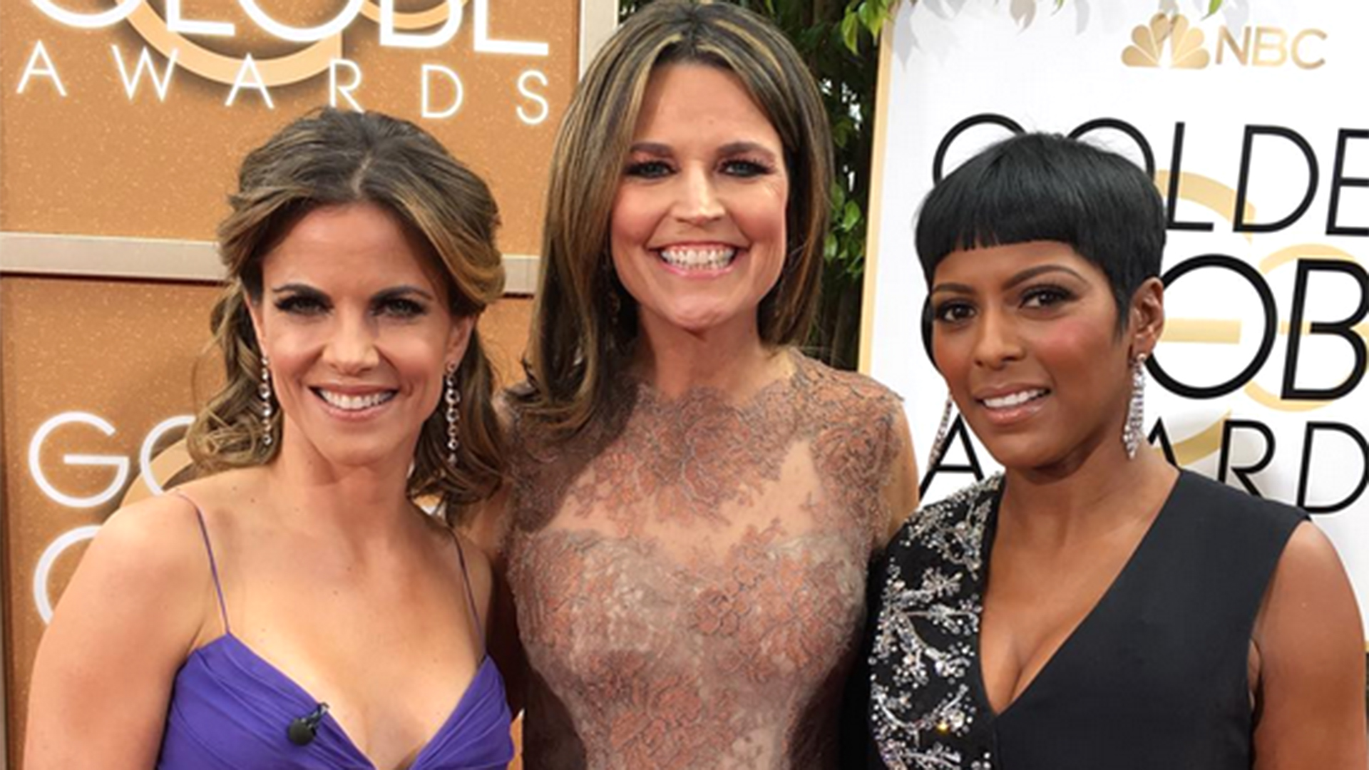 Today Show At The 2016 Golden Globes See Anchors Behind
