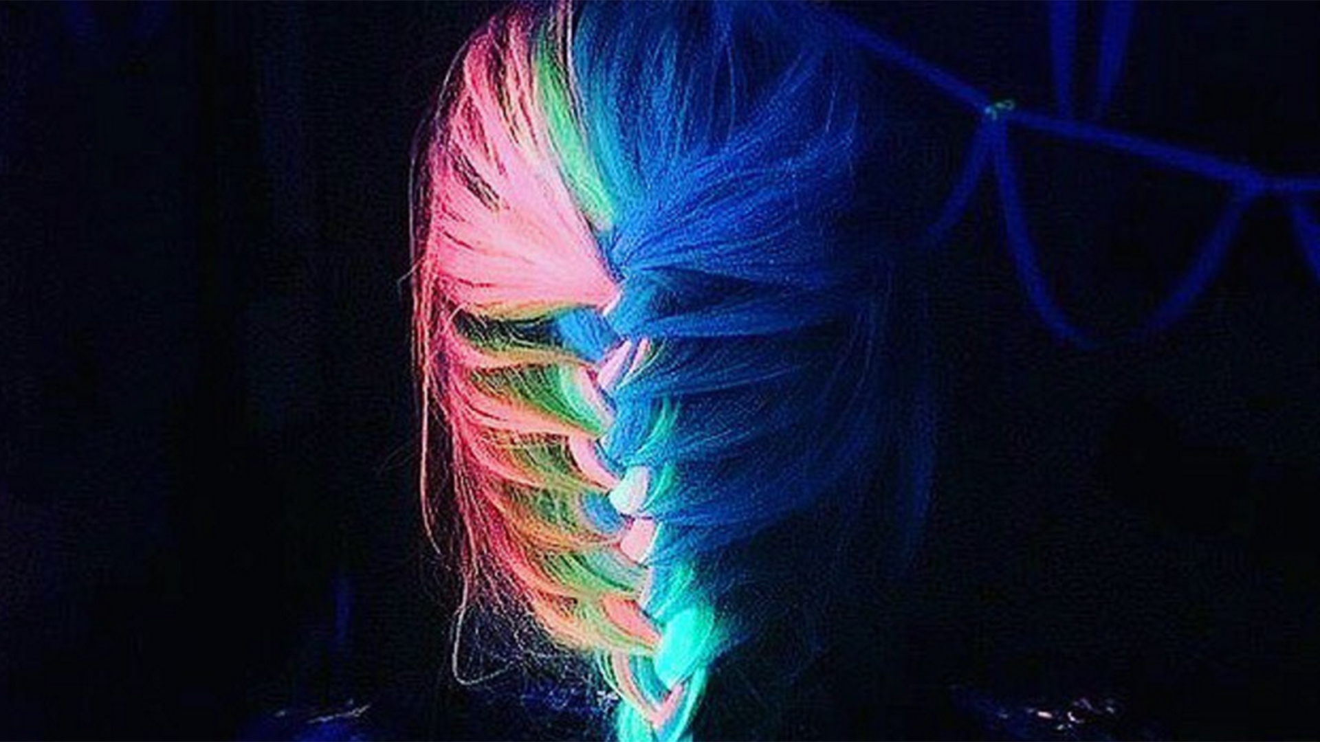 Glow-in-the-dark Rainbow Hair Is The Latest Wacky Trend