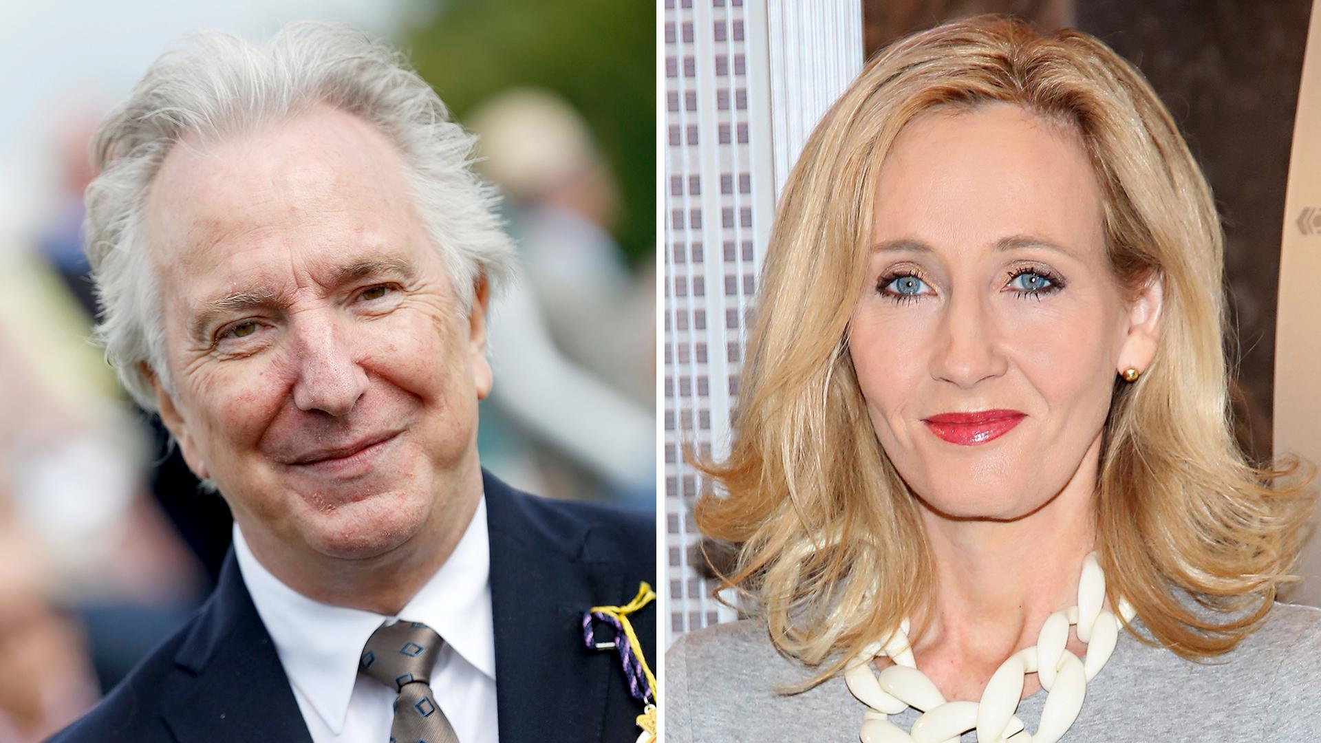 J.K. Rowling reveals the 'Harry Potter' secret she told Alan Rickman about Severus Snape