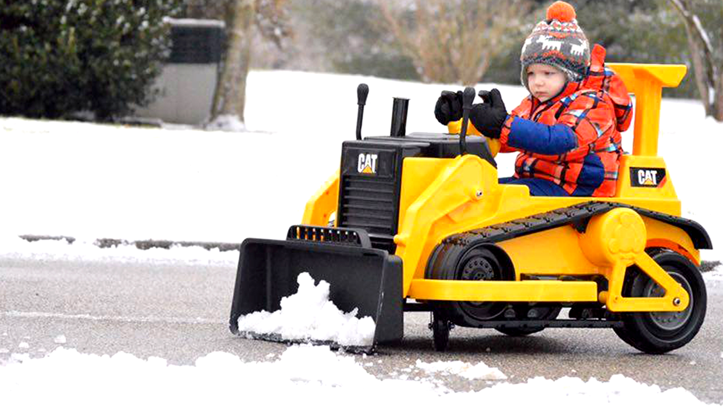 3 year old boy s rid of neighborhood snow one driveway at a