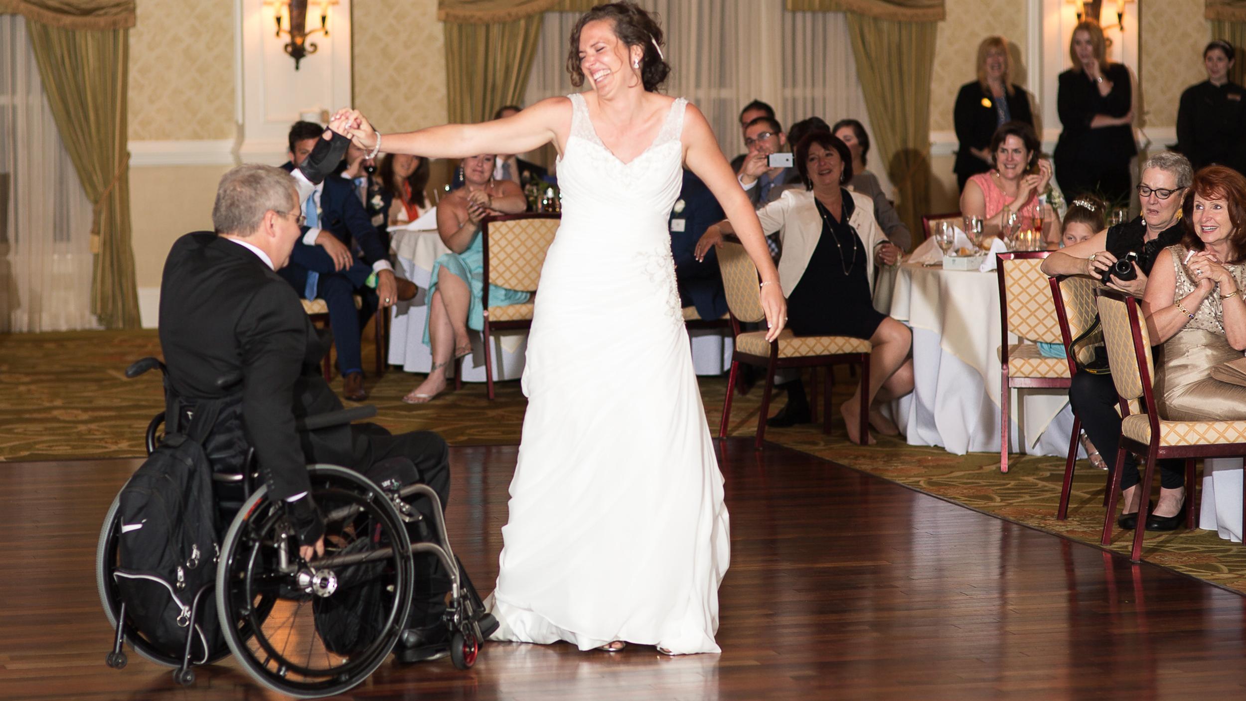 Quadriplegic Dad Dances After 17 Years At Daughters Wedding