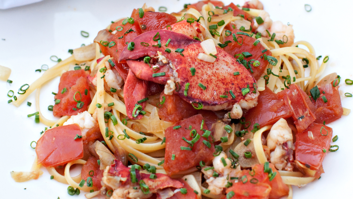 20-Minute Lobster Linguine with Chives and Tomato - TODAY.com
