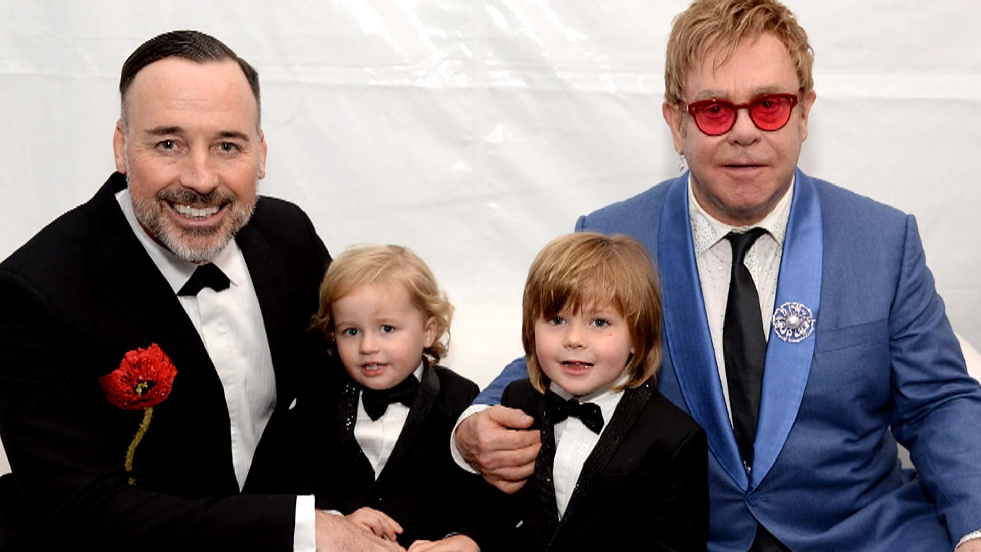 Image result for elton john with kids