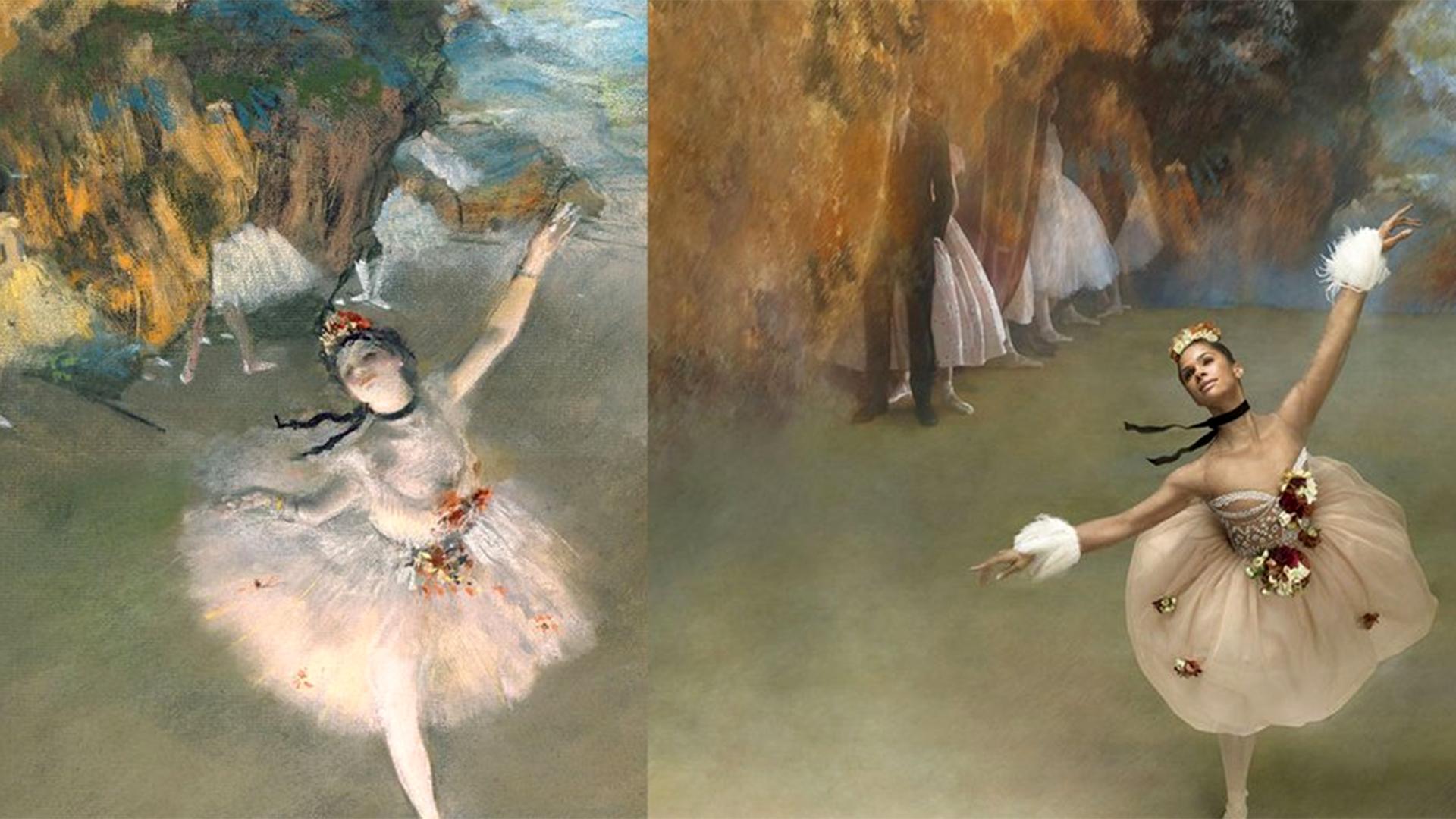 Ballet Dance Wallpapers Hd Resolution Dodskypict: On Pointe! Ballerina Misty Copeland Re-creates Degas