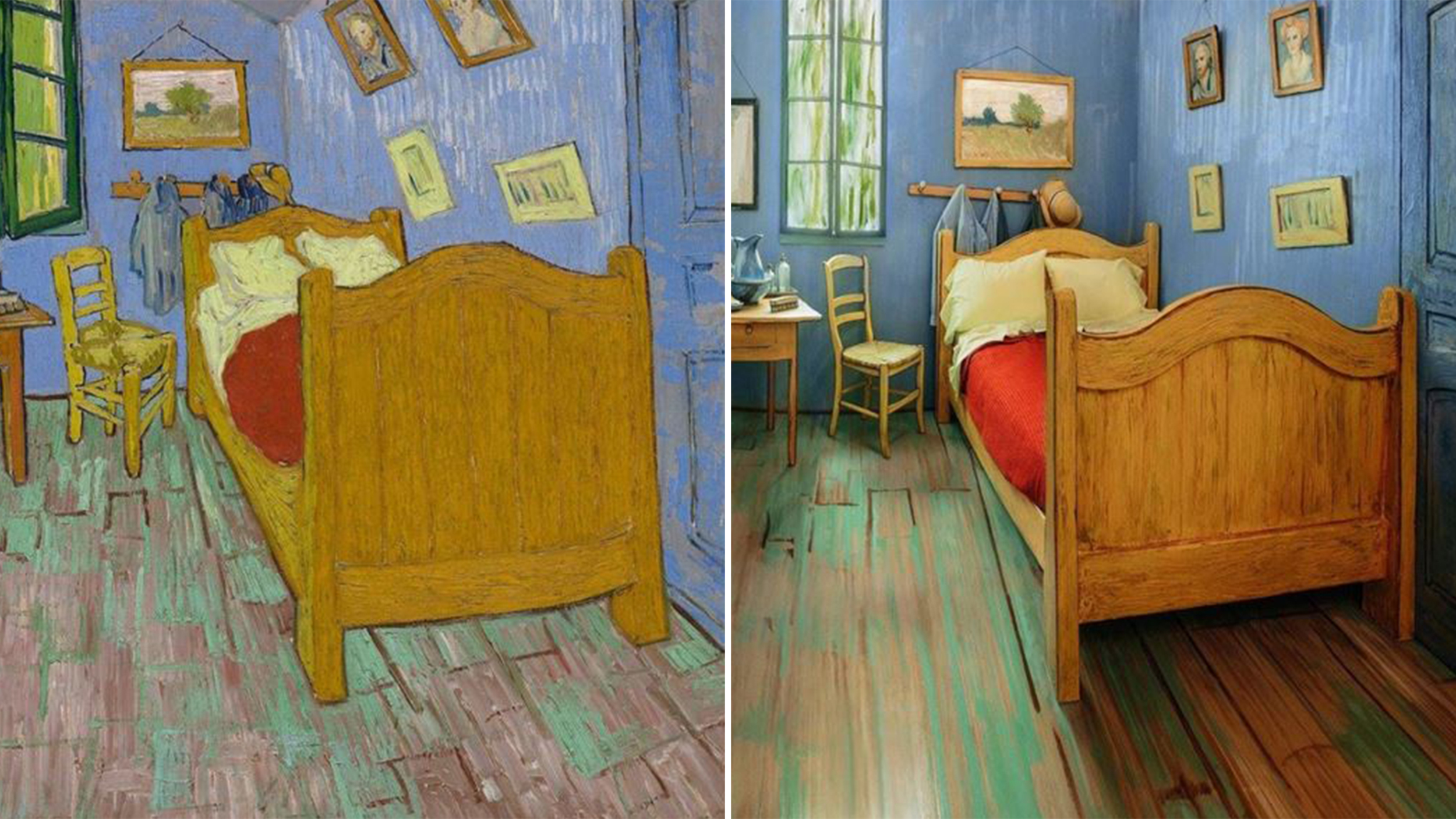 the art institute of chicago recreates van gogh's 'bedroom' and