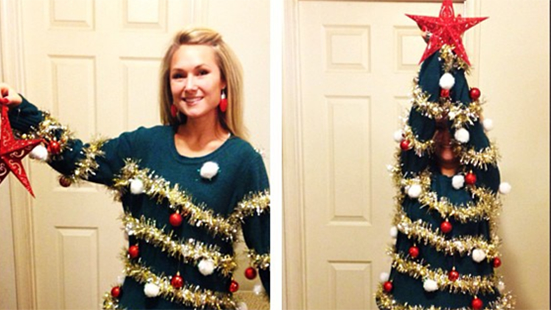 7 diy ugly christmas sweaters from pinterest - Homemade Ugly Christmas Sweater