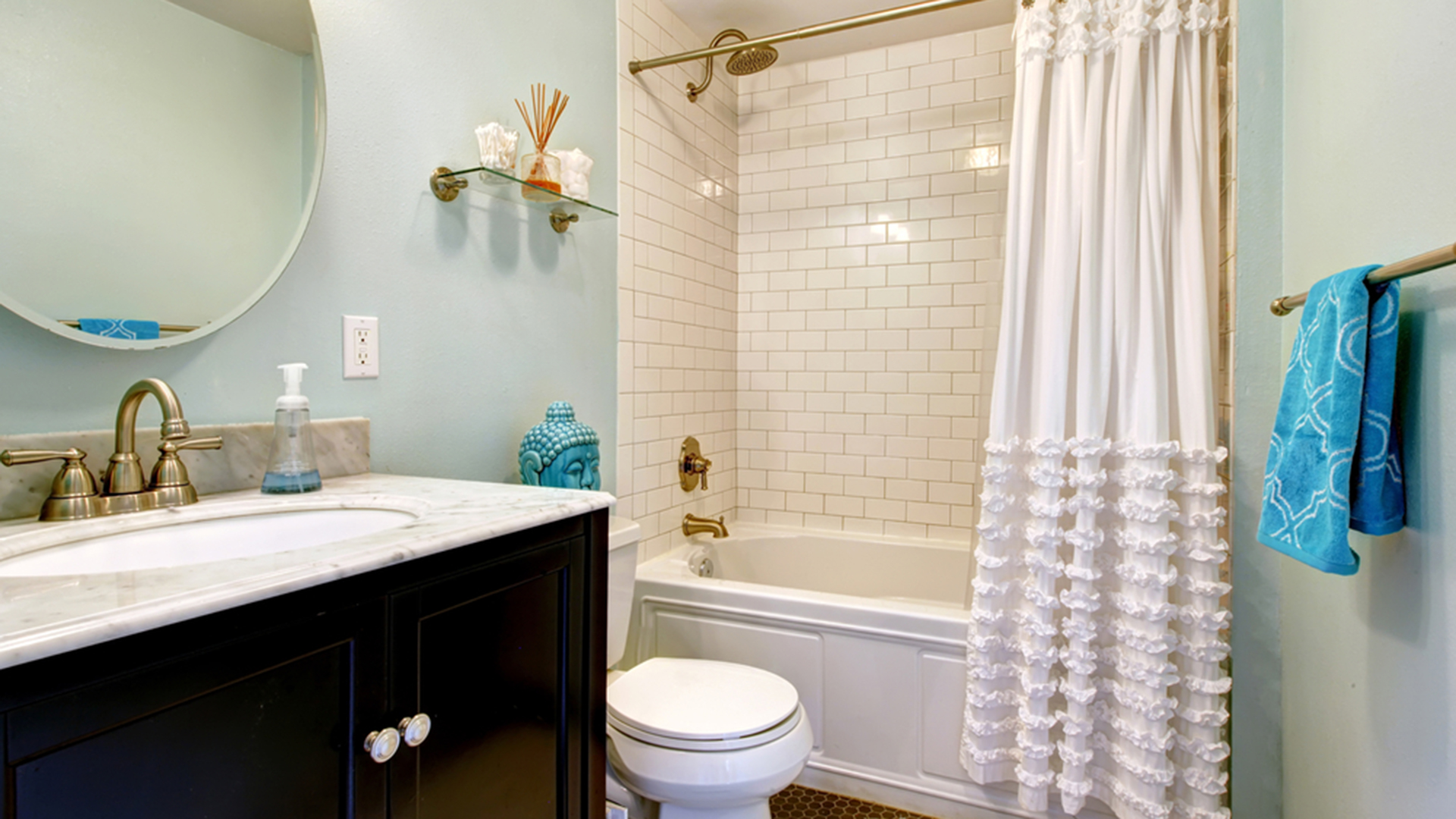 How to clean your shower curtain liner for How often to clean bathroom