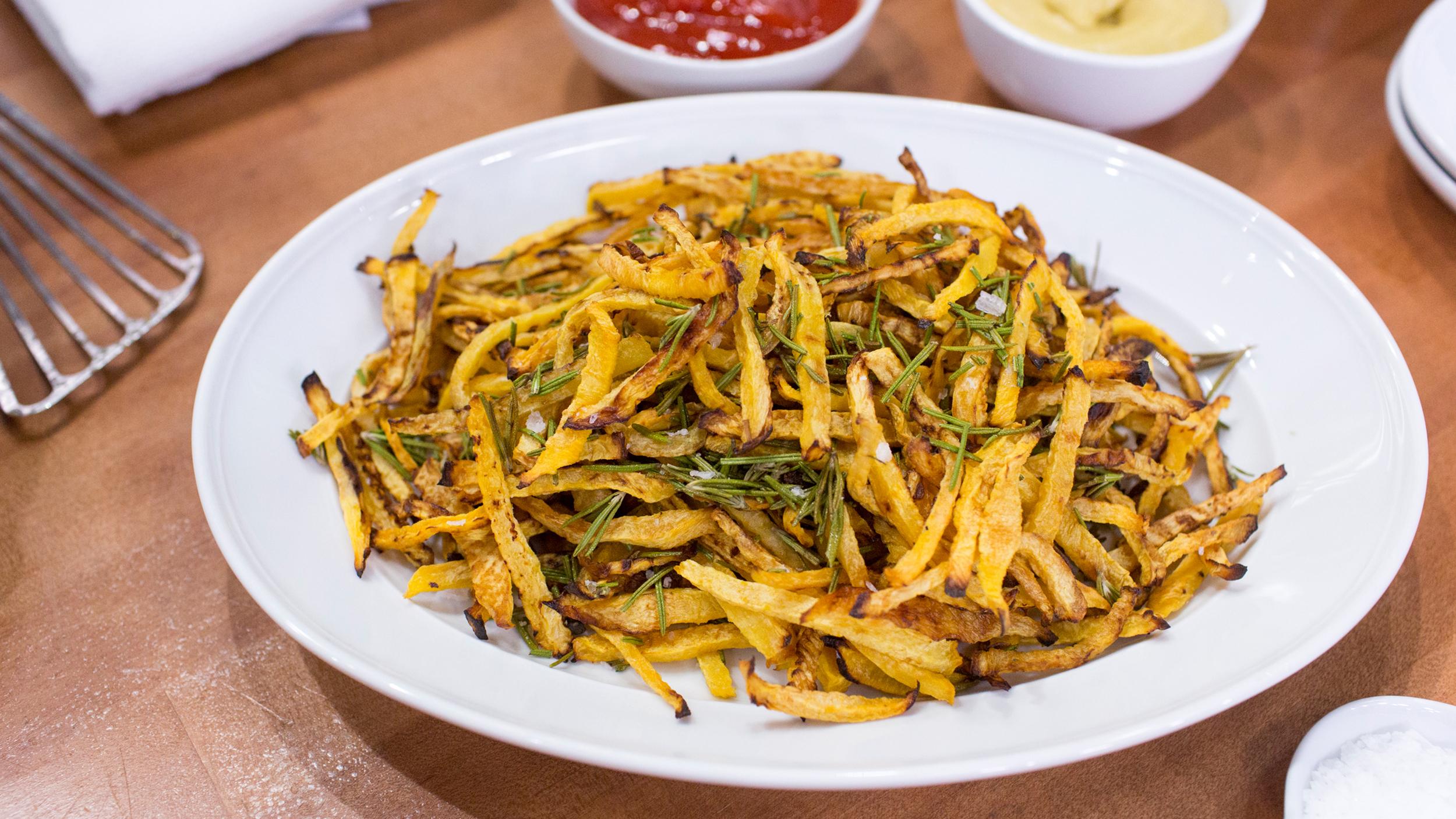 how to cut rutabaga fries