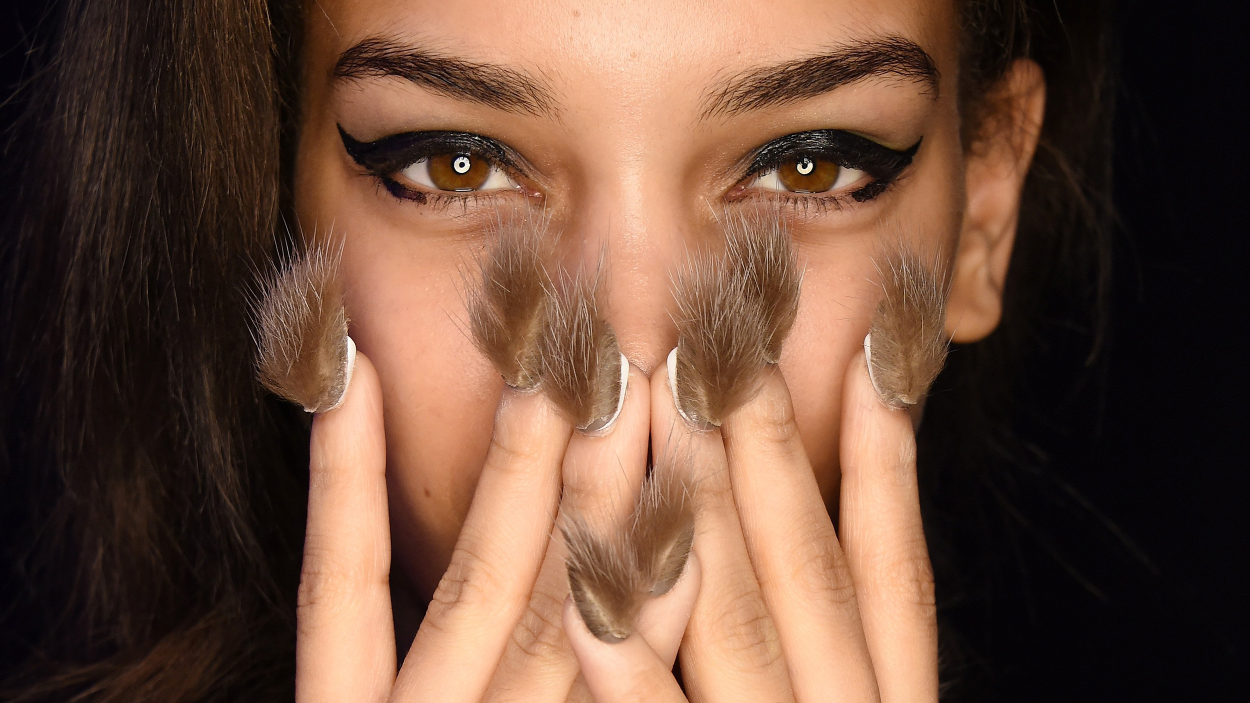 Furry nails: Libertine\'s runway show at New York Fashion week debuts ...