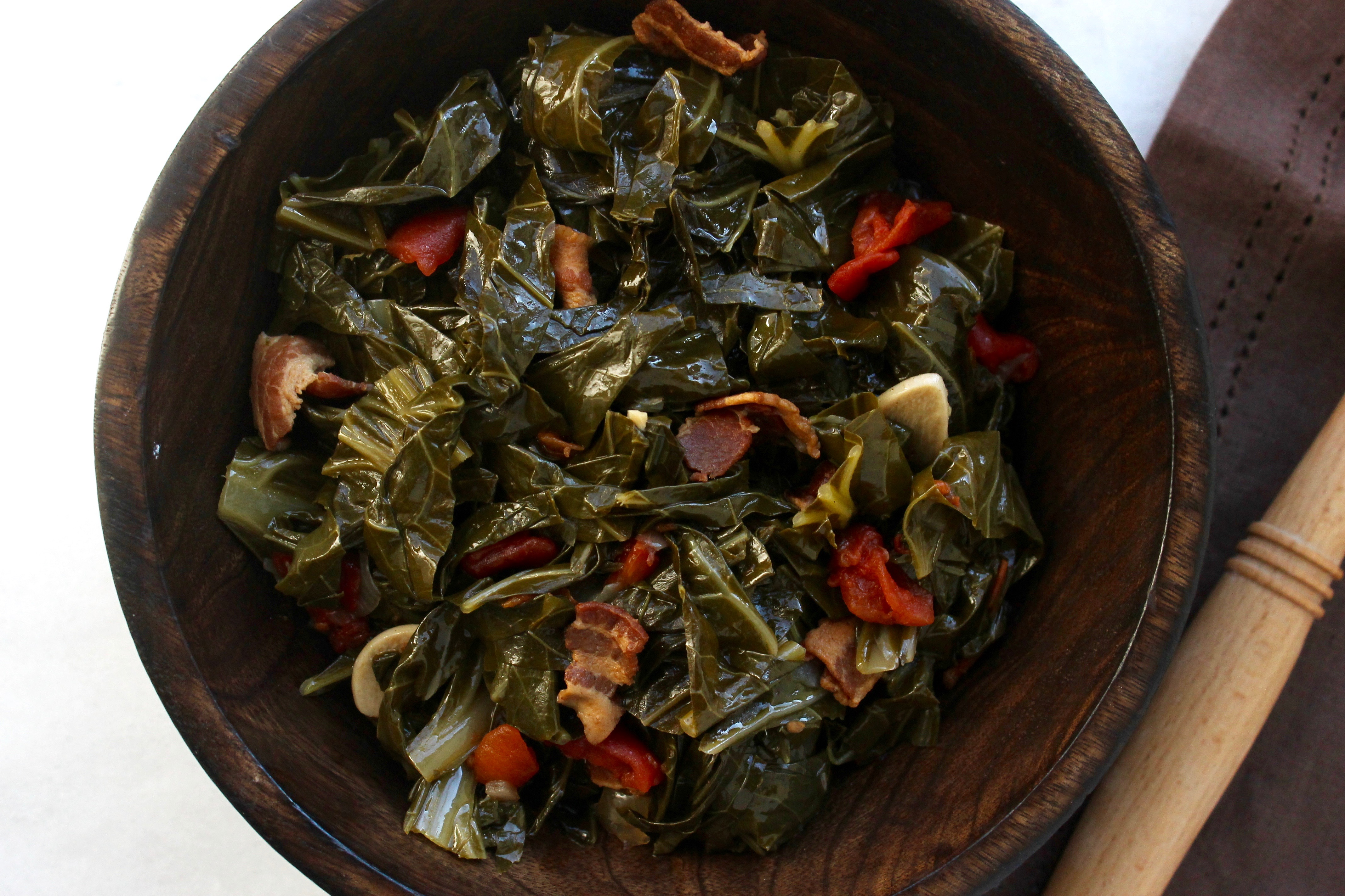 Slow Cooker Collard Greens With Bacon Today Com