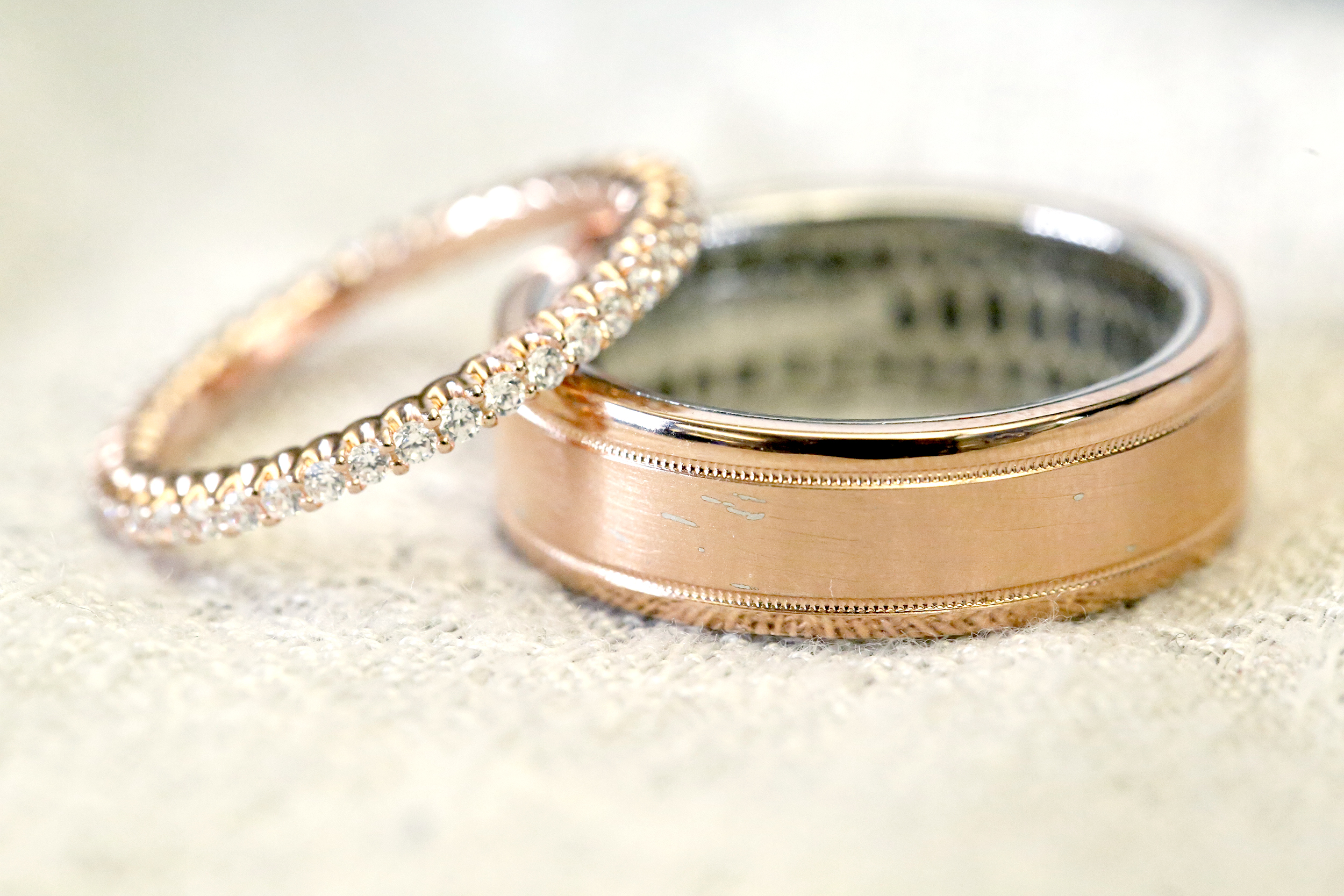 rose lady gold platinum sale product bands ladys s plain wedding band art womens