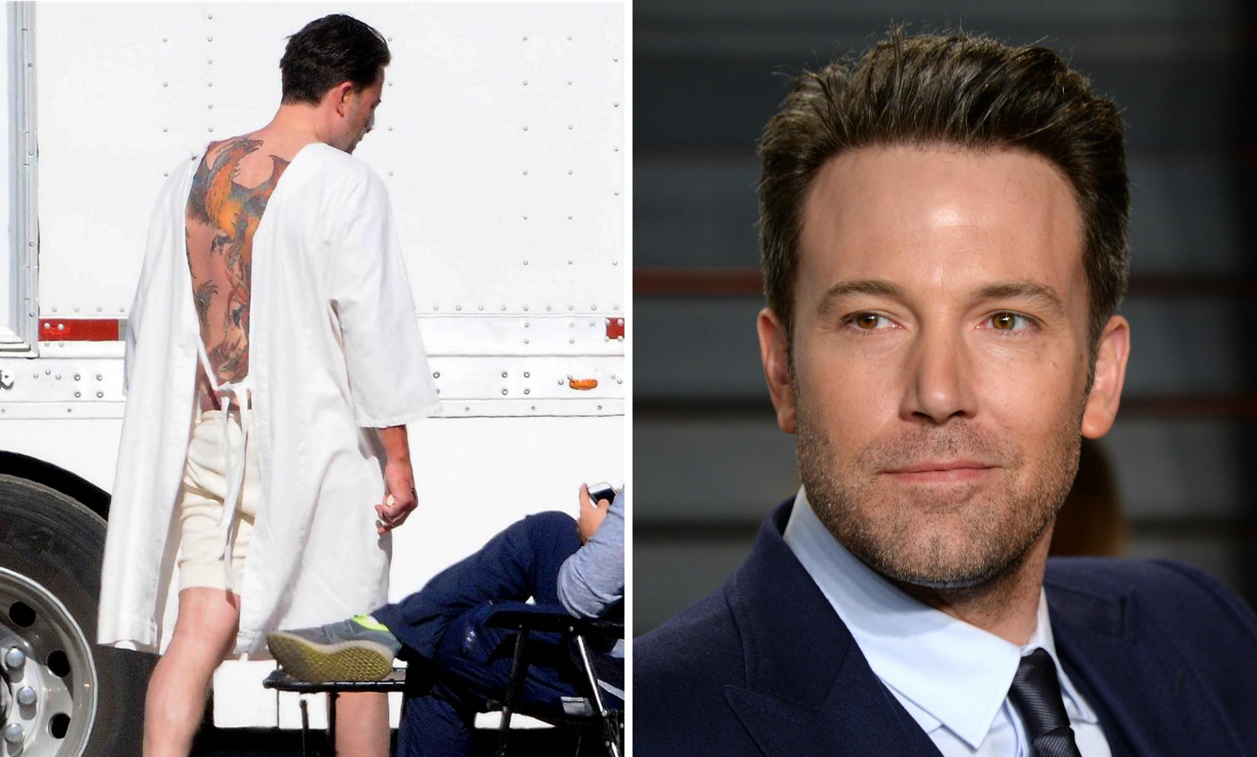Ben Affleck S Phoenix Back Tattoo Batman Actor Reveals It S Fake For A Movie Today Com