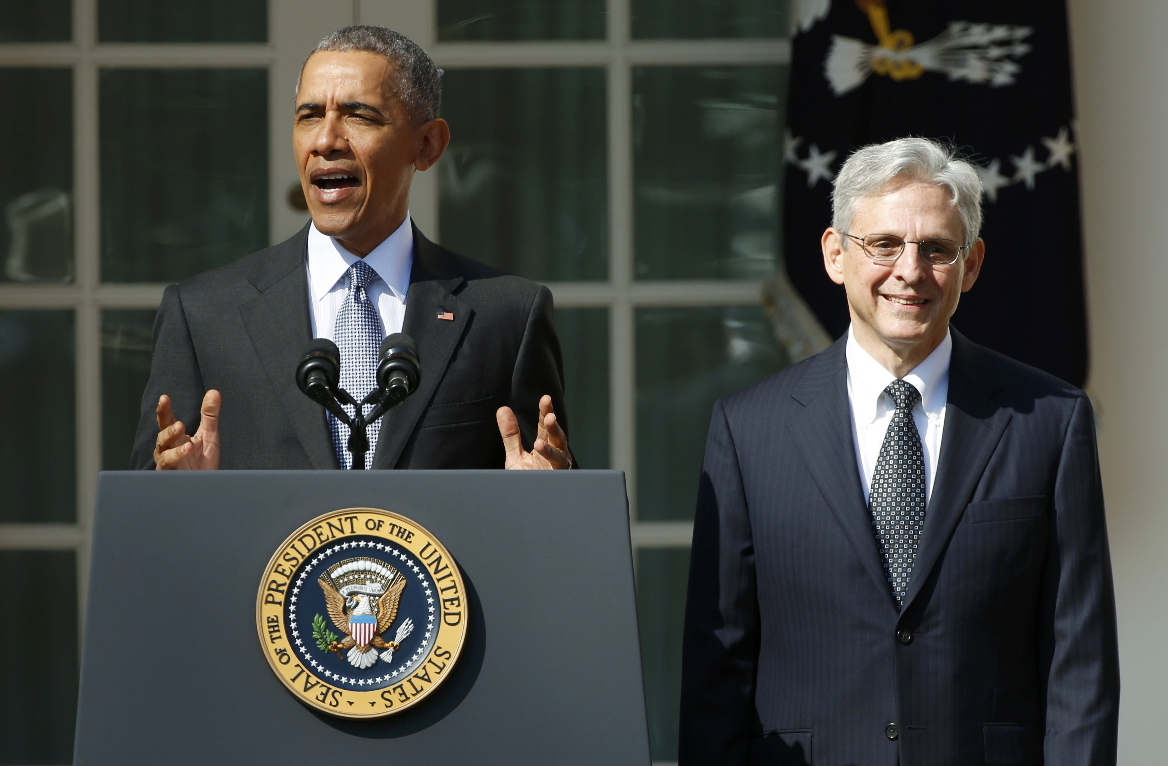 Image: U.S. President Obama announces Judge Garland as Supreme Court nominee at the White House in Washington