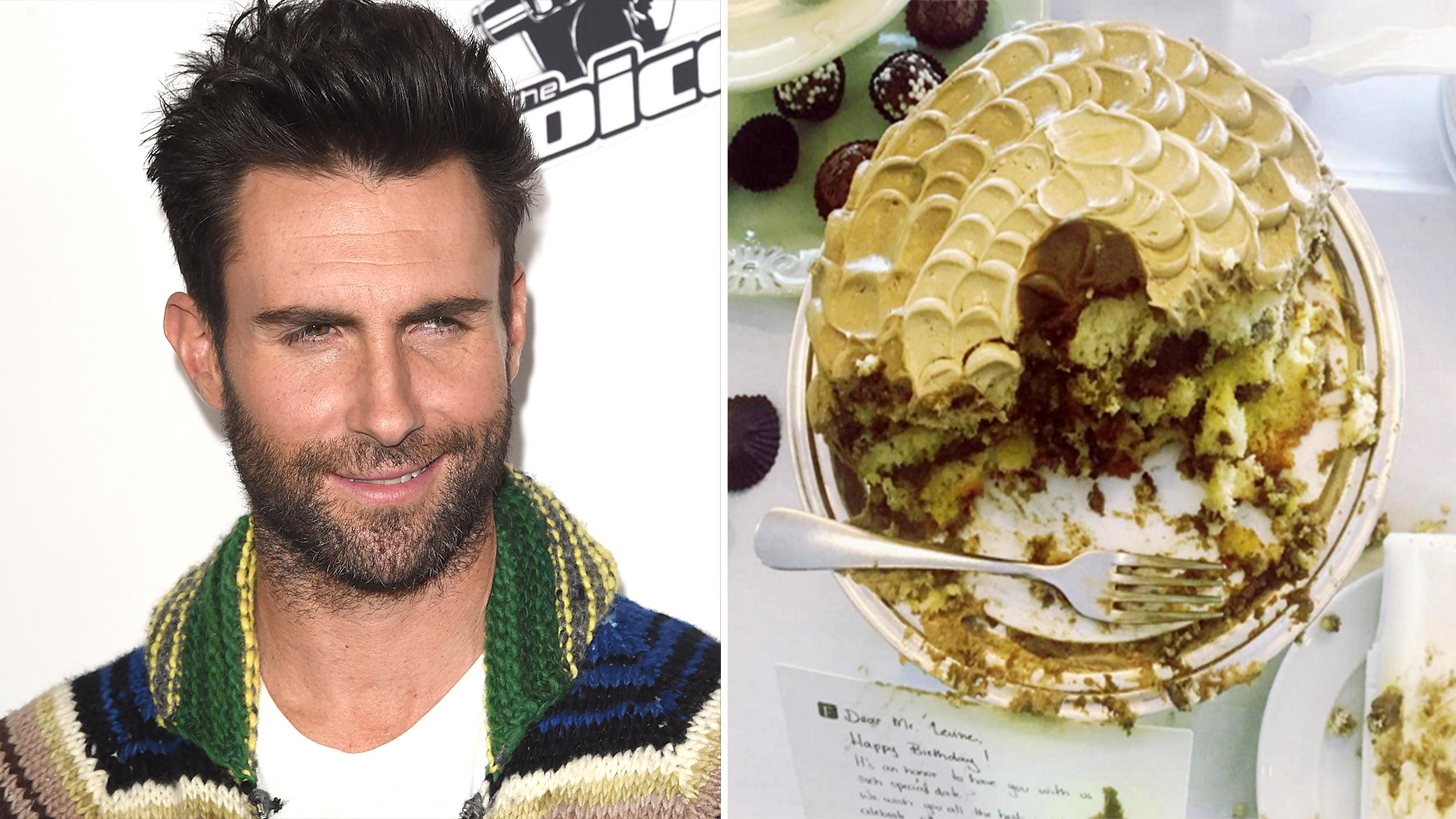Adam Levine Spent His Th Birthday Alone In Bed With A Cake - Adam levine birthday cake