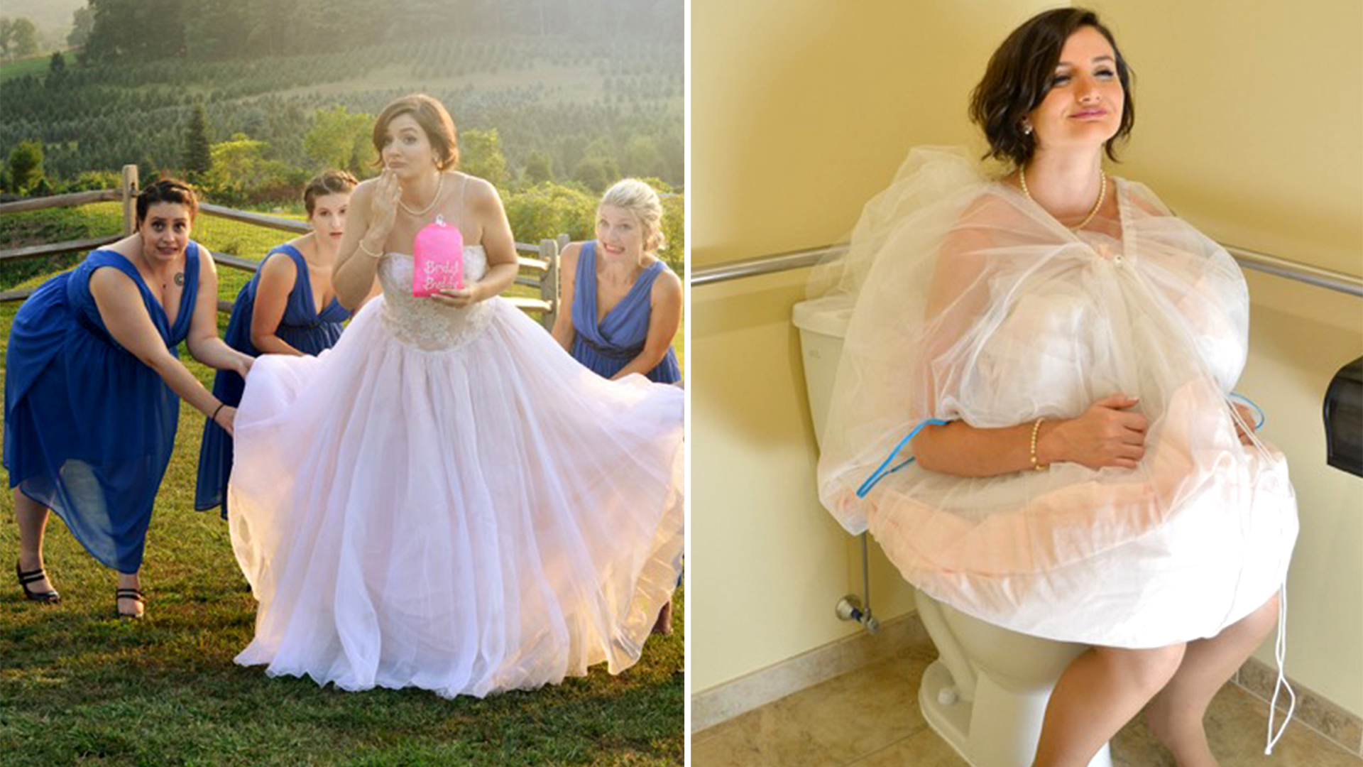 Bridal buddy makes it easier for brides to use the for Shark tank wedding dress