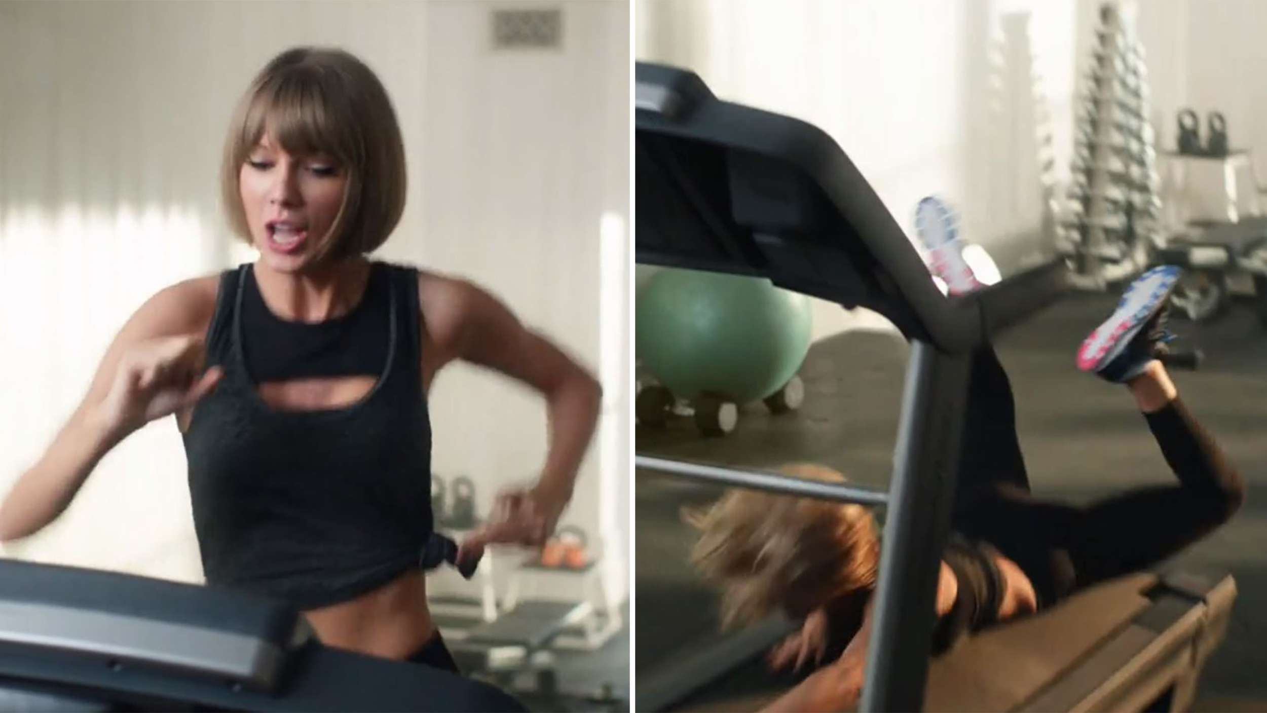 taylor swift falls on her face in new apple music ad