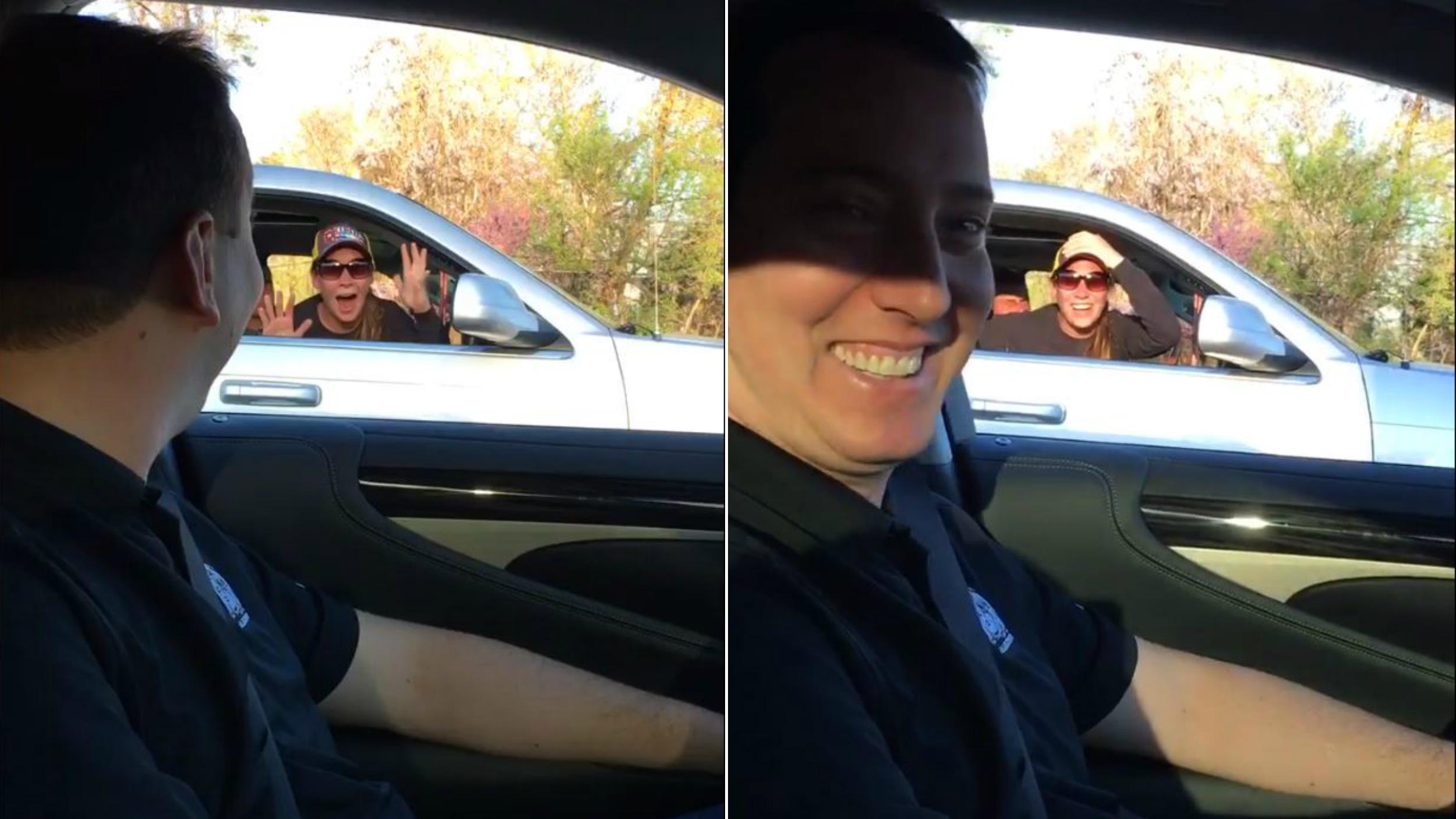 Guess Who  Watch Nascar Star Kyle Busch Surprise Fan Stuck