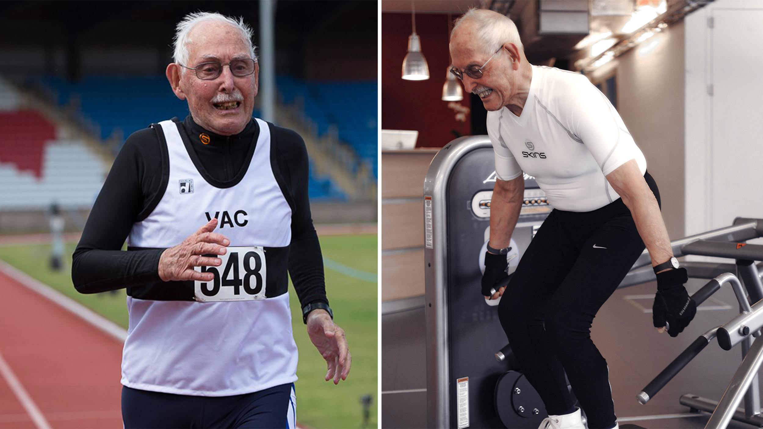 World's fittest 96-year-old, Charles Eugster, shares diet and exercise tips
