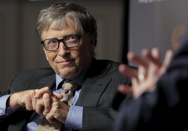 Bill Gates, co-chair of the Bill & Melinda Gates Foundation, speaks during a discussion on innovation hosted by Reuters in Washington