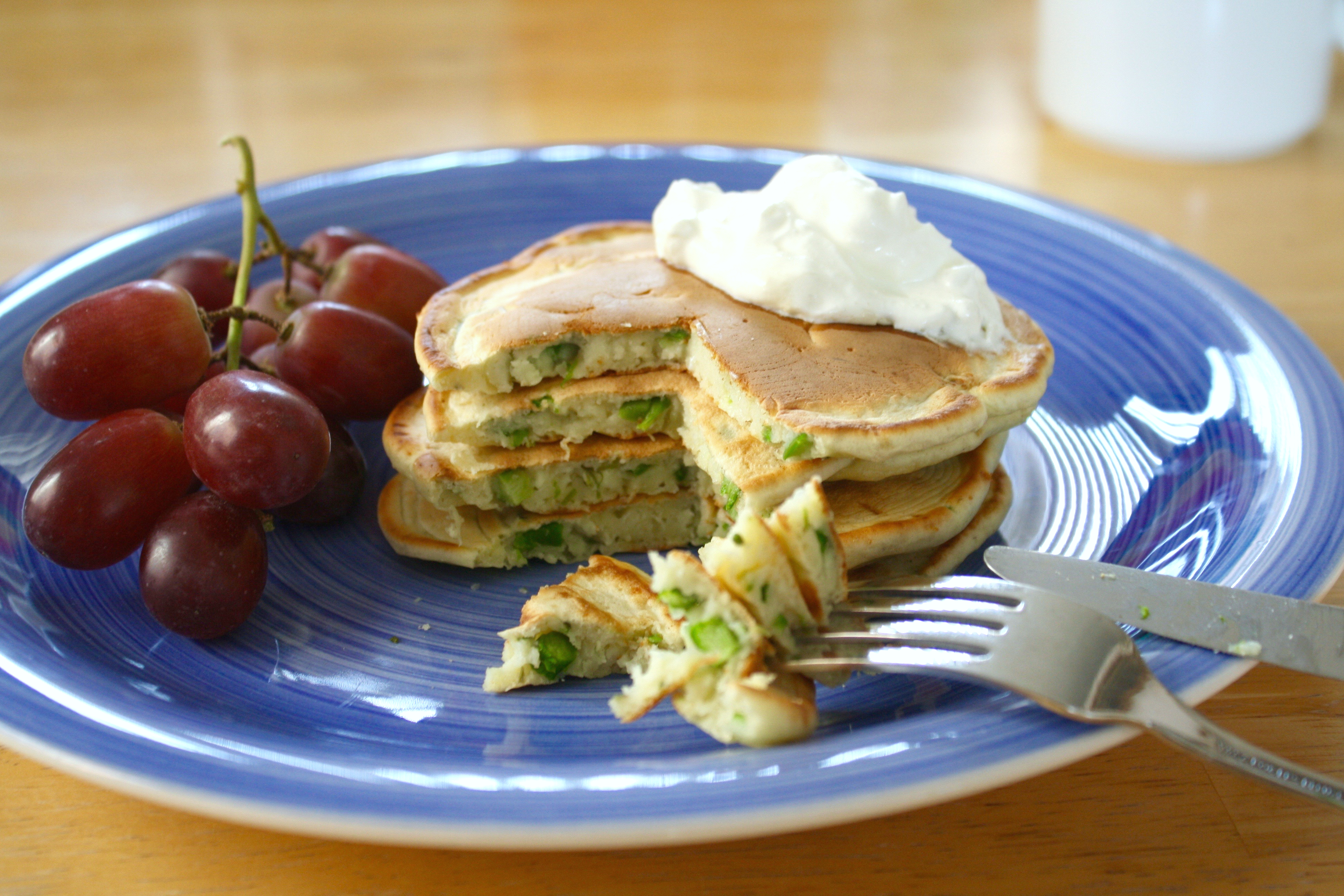 Savory asparagus pancakes for Recipes for pancakes sweet and savory