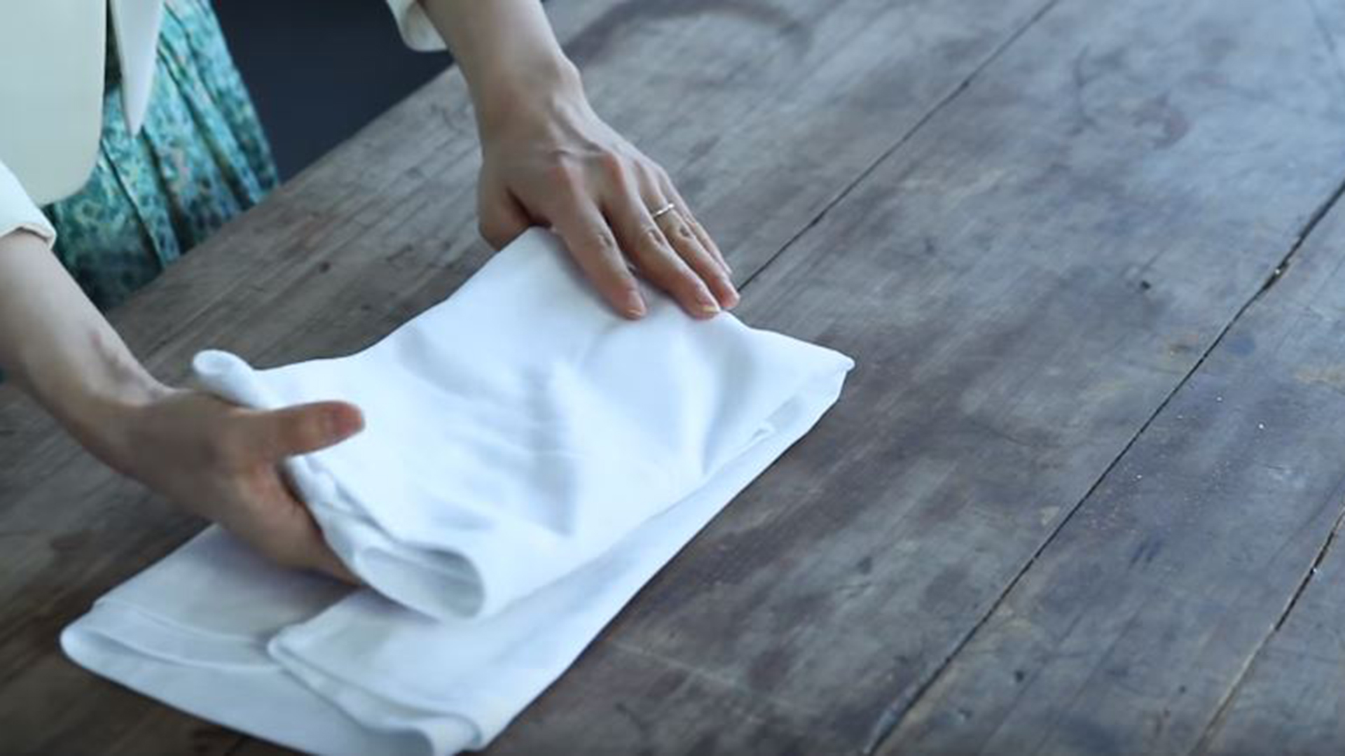 Marie Kondo Shows How To Properly Fold A Shirt Camisole