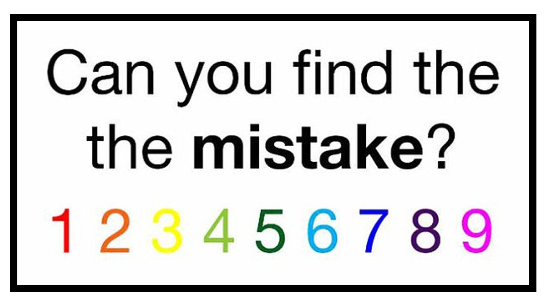 Can You Find The Mistake In 5 Seconds Try The Latest