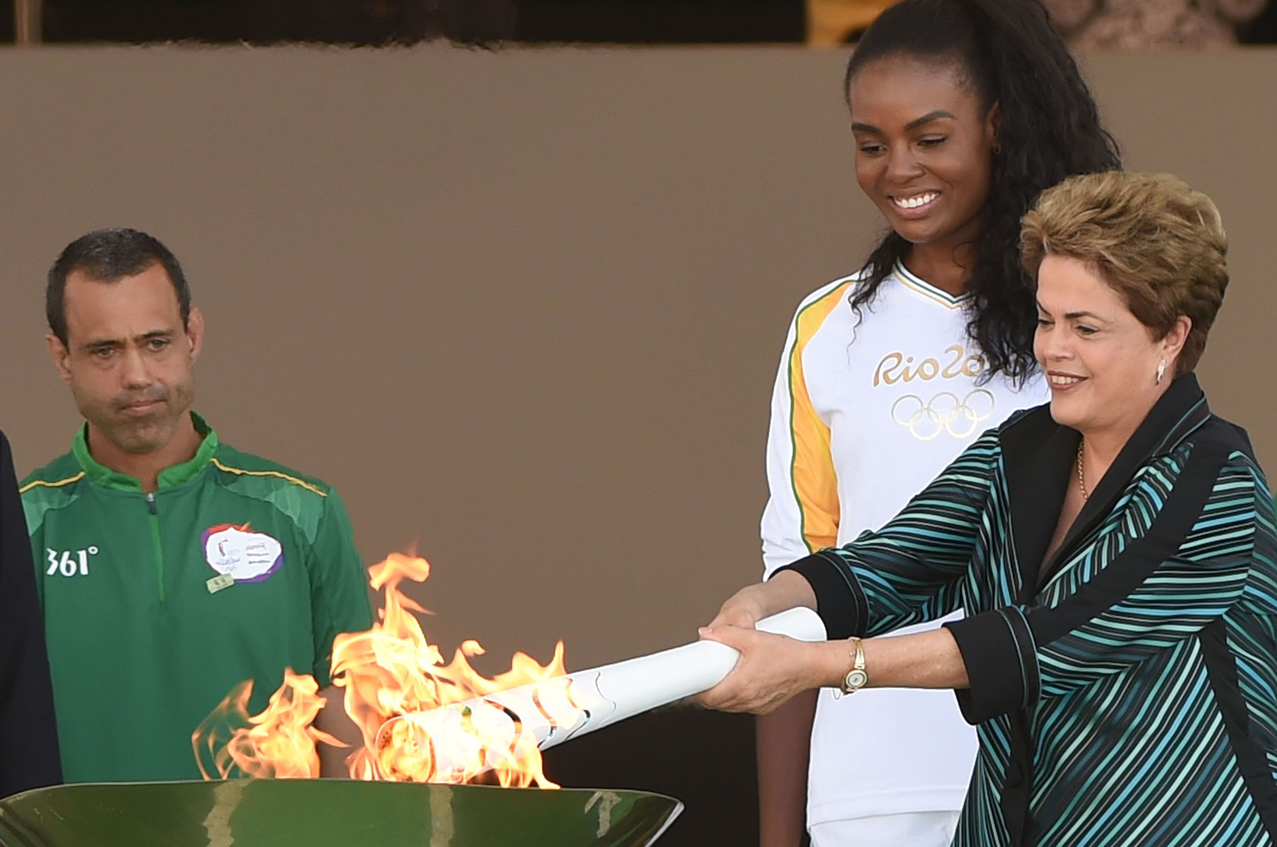 98d897c58520 Rio 2016  Olympic Flame Arrives in Brazil Ahead of Games