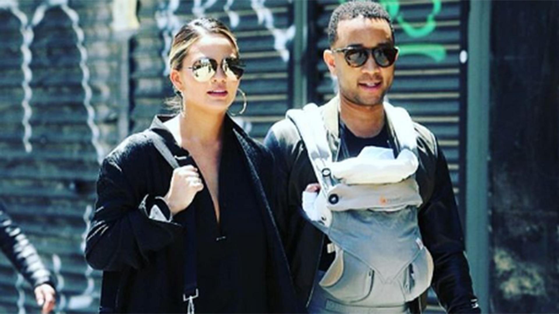 Chrissy Teigen shares sweet pic of baby Luna and husband John Legend on Instagram - TODAY.com