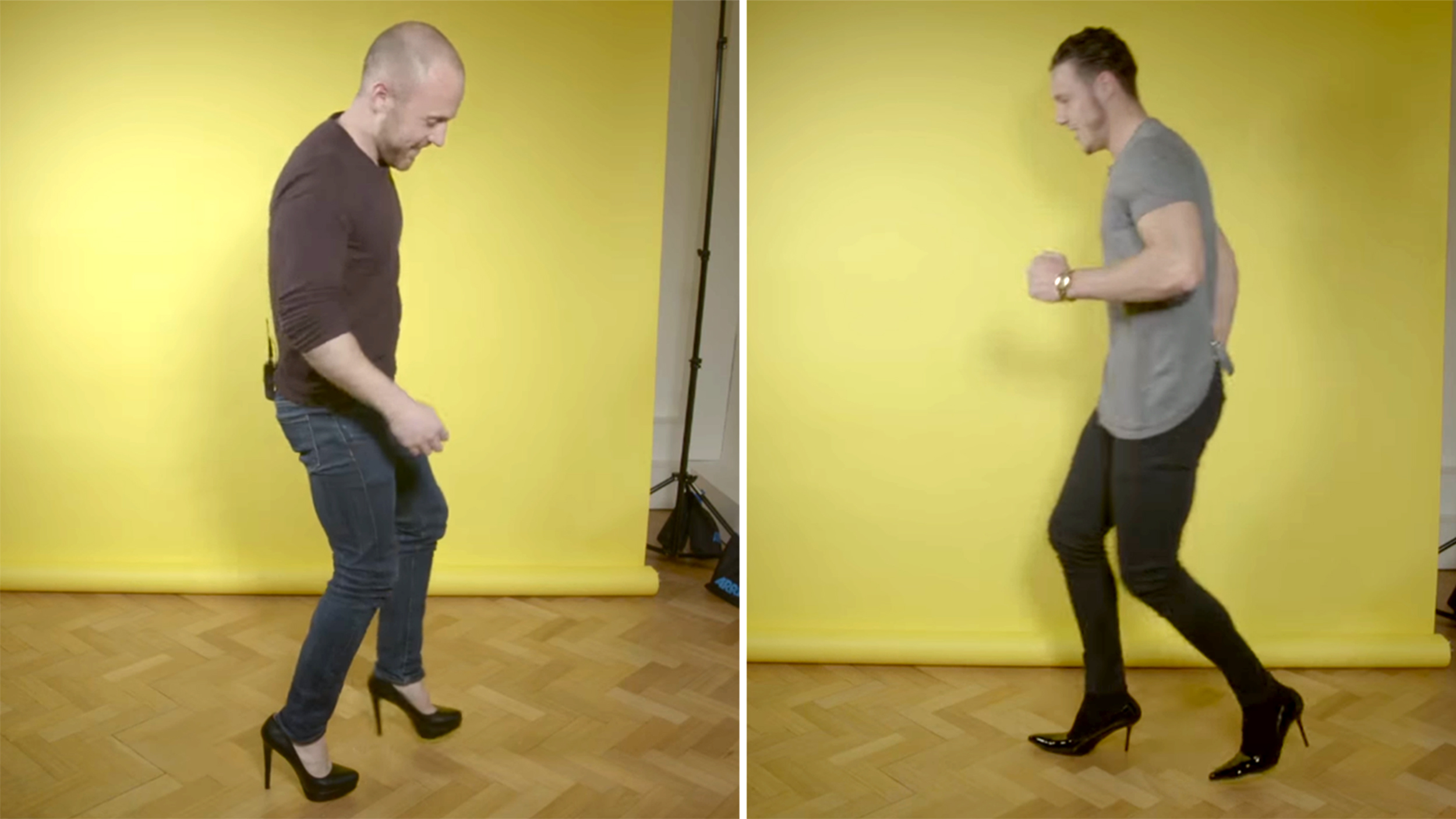These men tried wearing heels for one day — and failed miserably ...