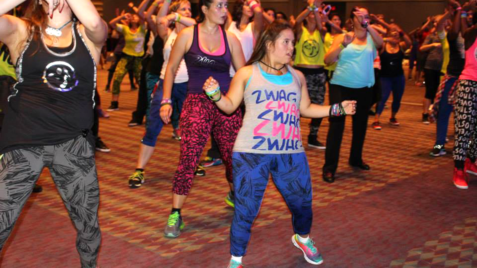 Woman with down syndrome living her dream as zumba for Living room zumba