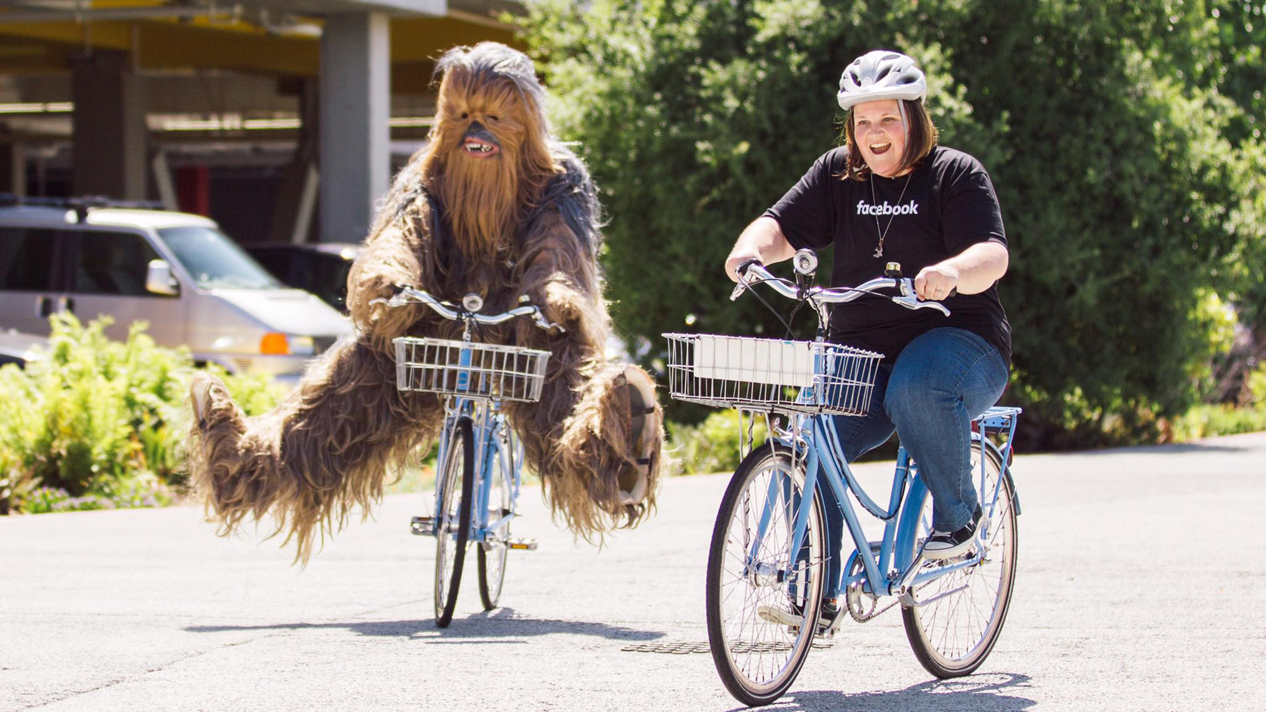 chewbacca mom' visits facebook, gets wookiee surprise - today