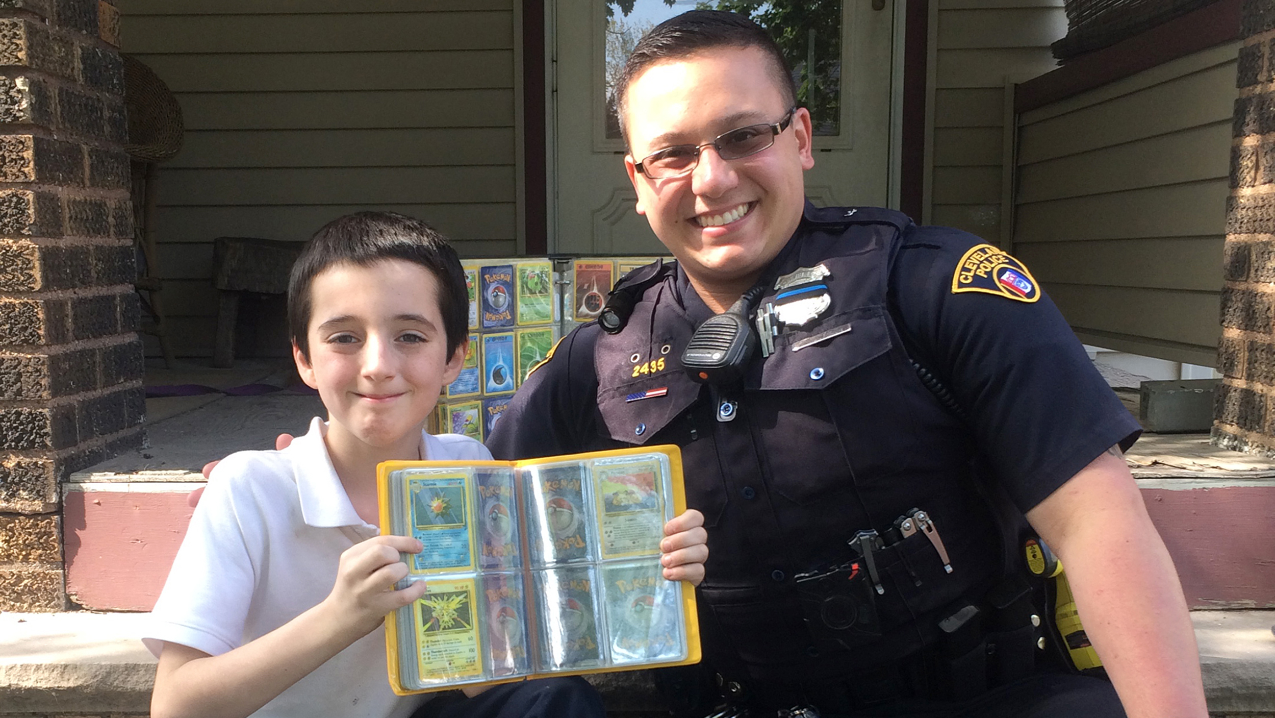 Cop Gives Pokemon Cards To Boy Whose Collection Was Stolen