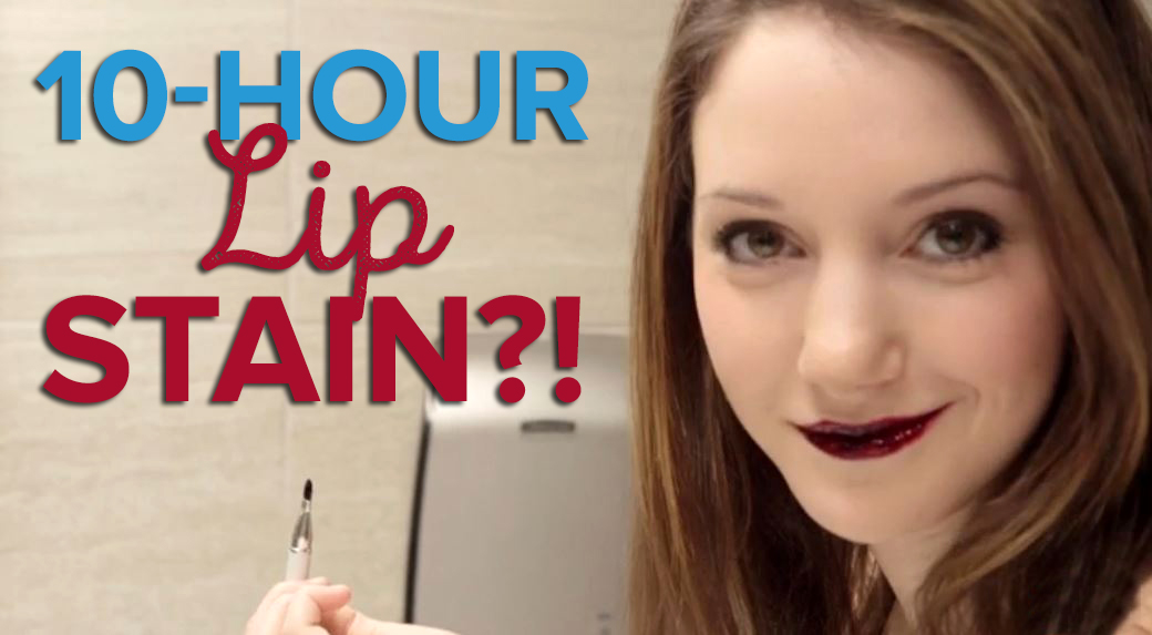 how to get lip stain off