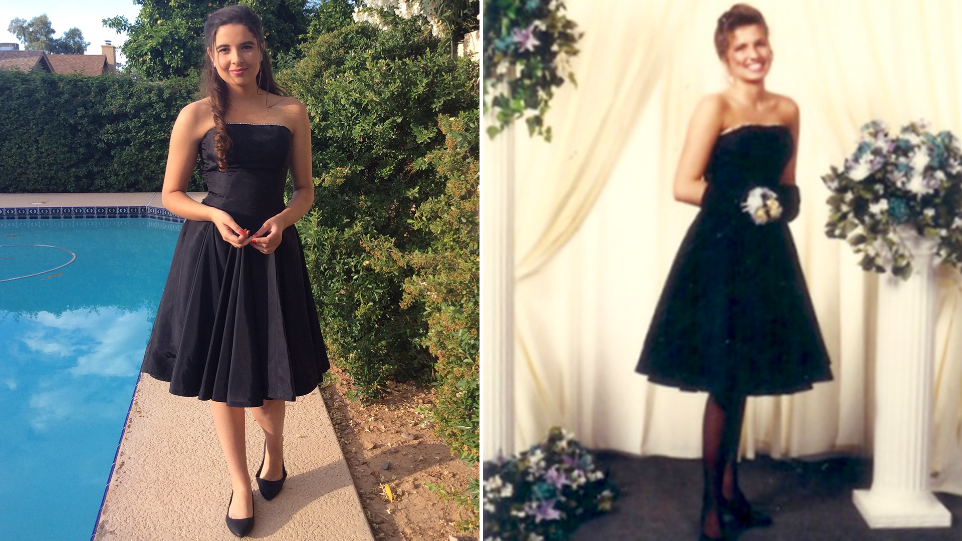 Teen feels like a princess in mom\'s prom dress 25 years later