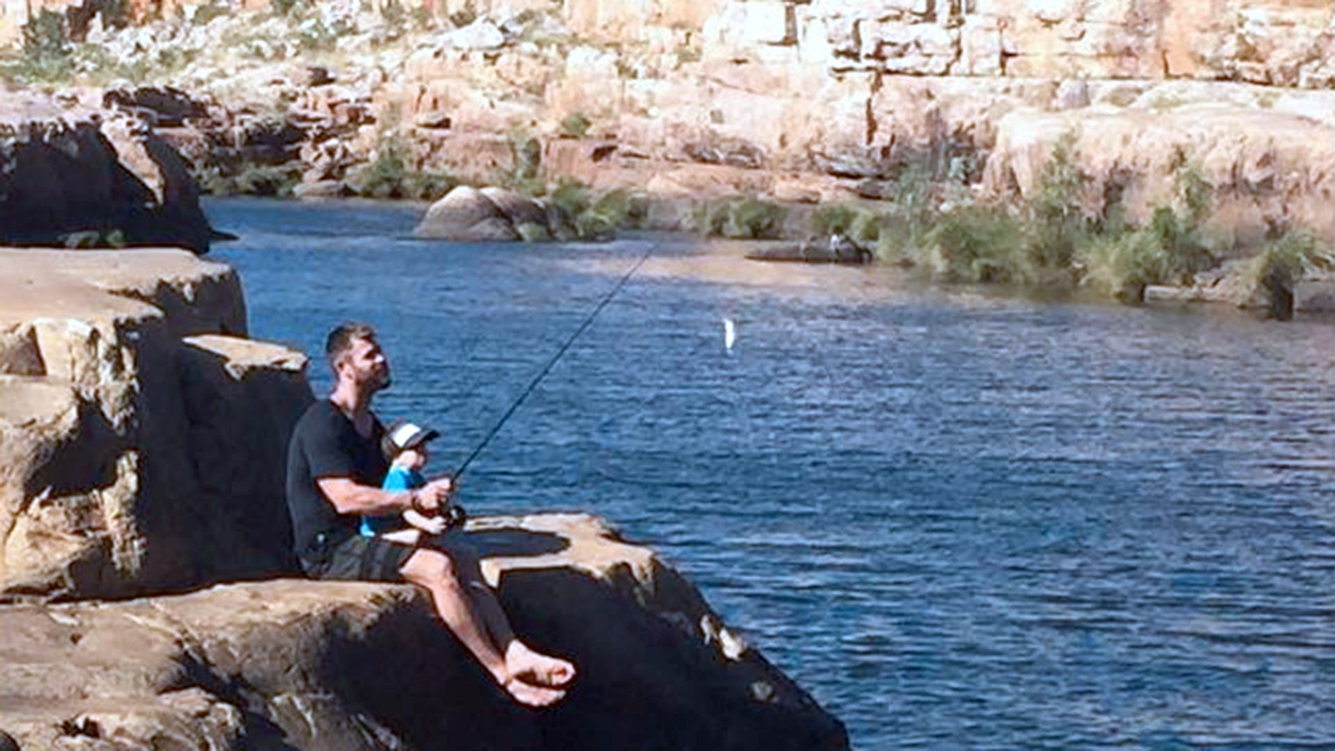 Image result for Chris Hemsworth Fishing With The Kids