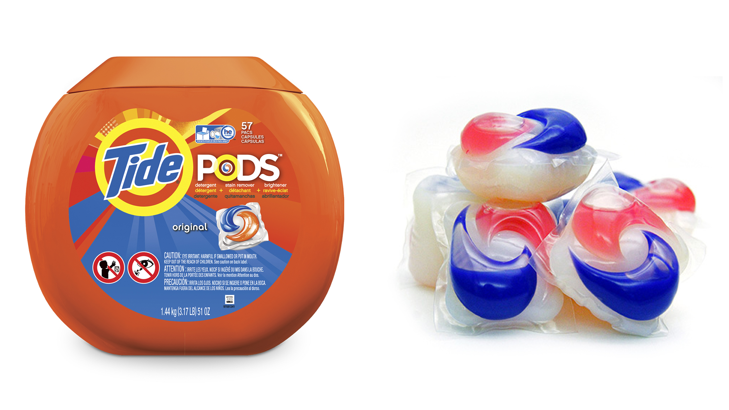 tide pods proctor gamble says to use 3 per load