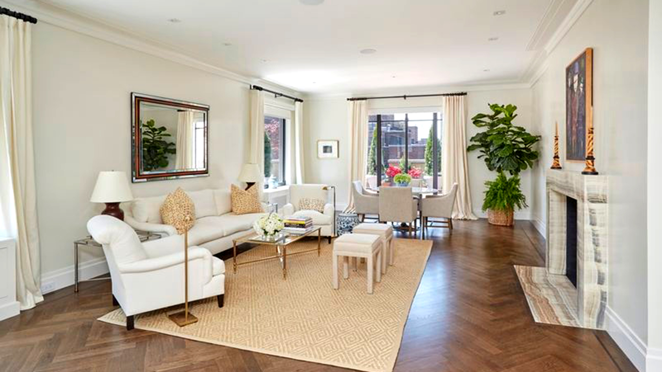 living room address marilyn s nyc penthouse hits the market see 11521