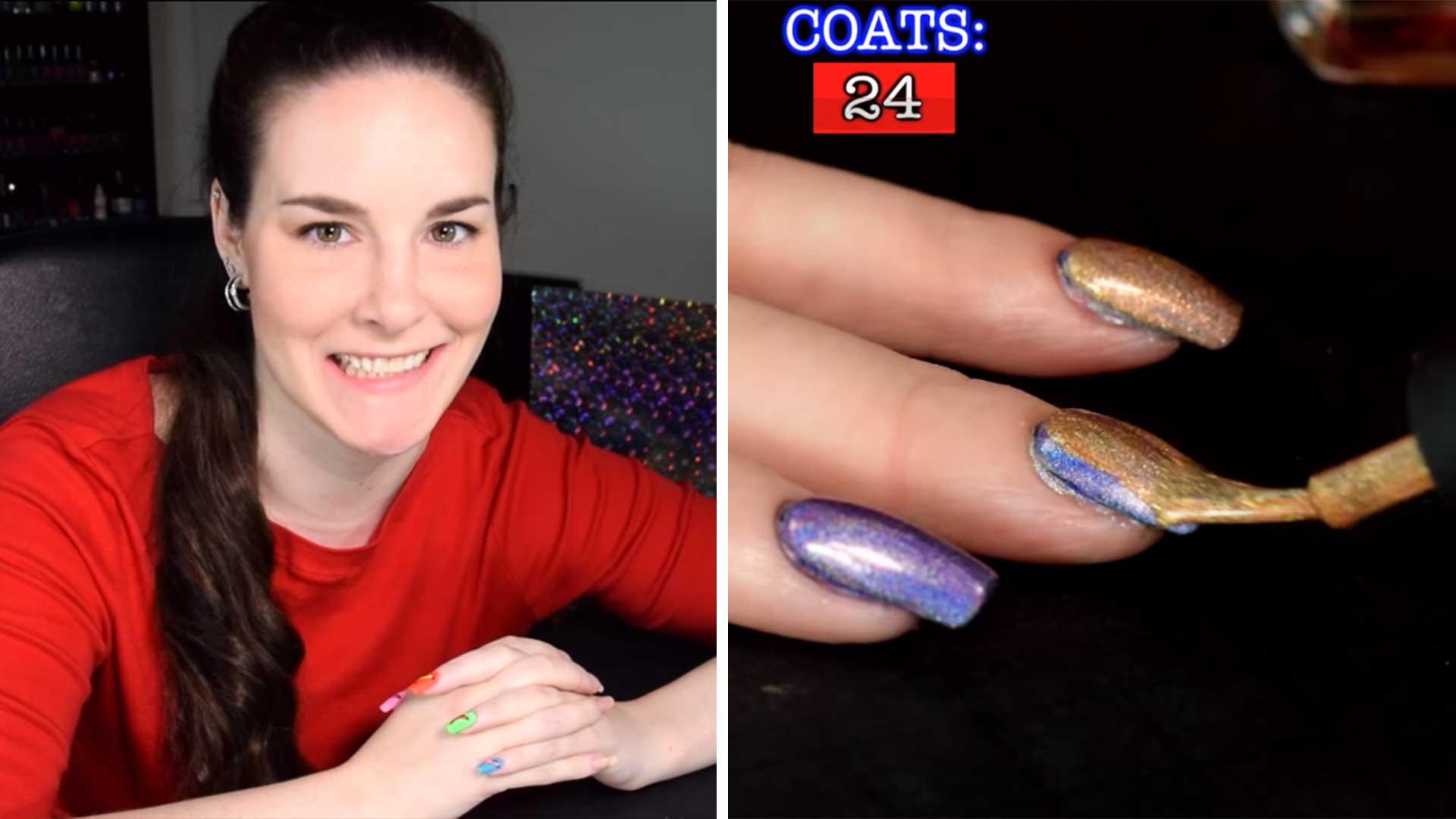 Simply Nailogical vlogger applies 116 coats of nail polish - TODAY.com