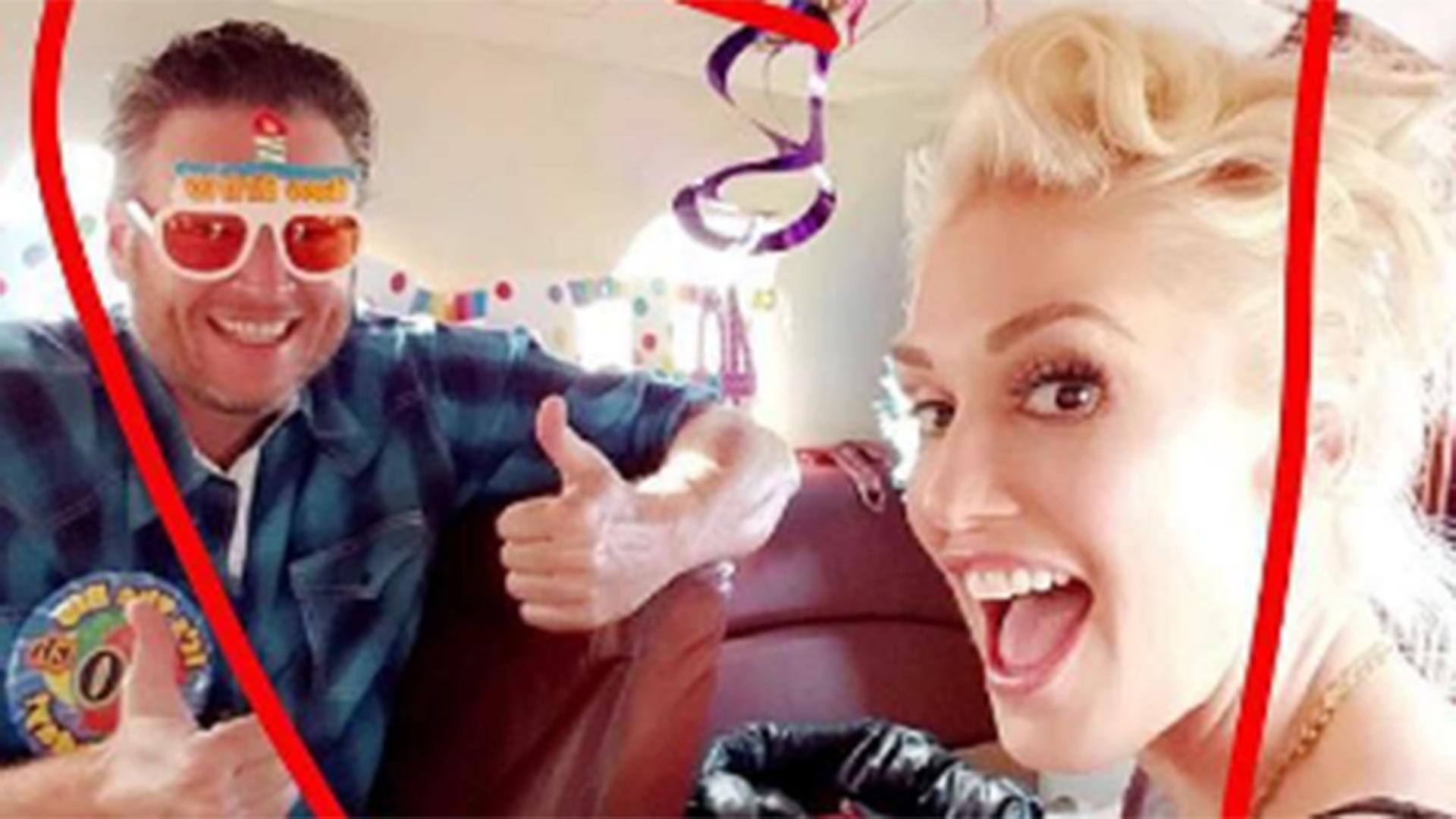 Gwen Stefani Helps Blake Shelton Celebrate His 40th In