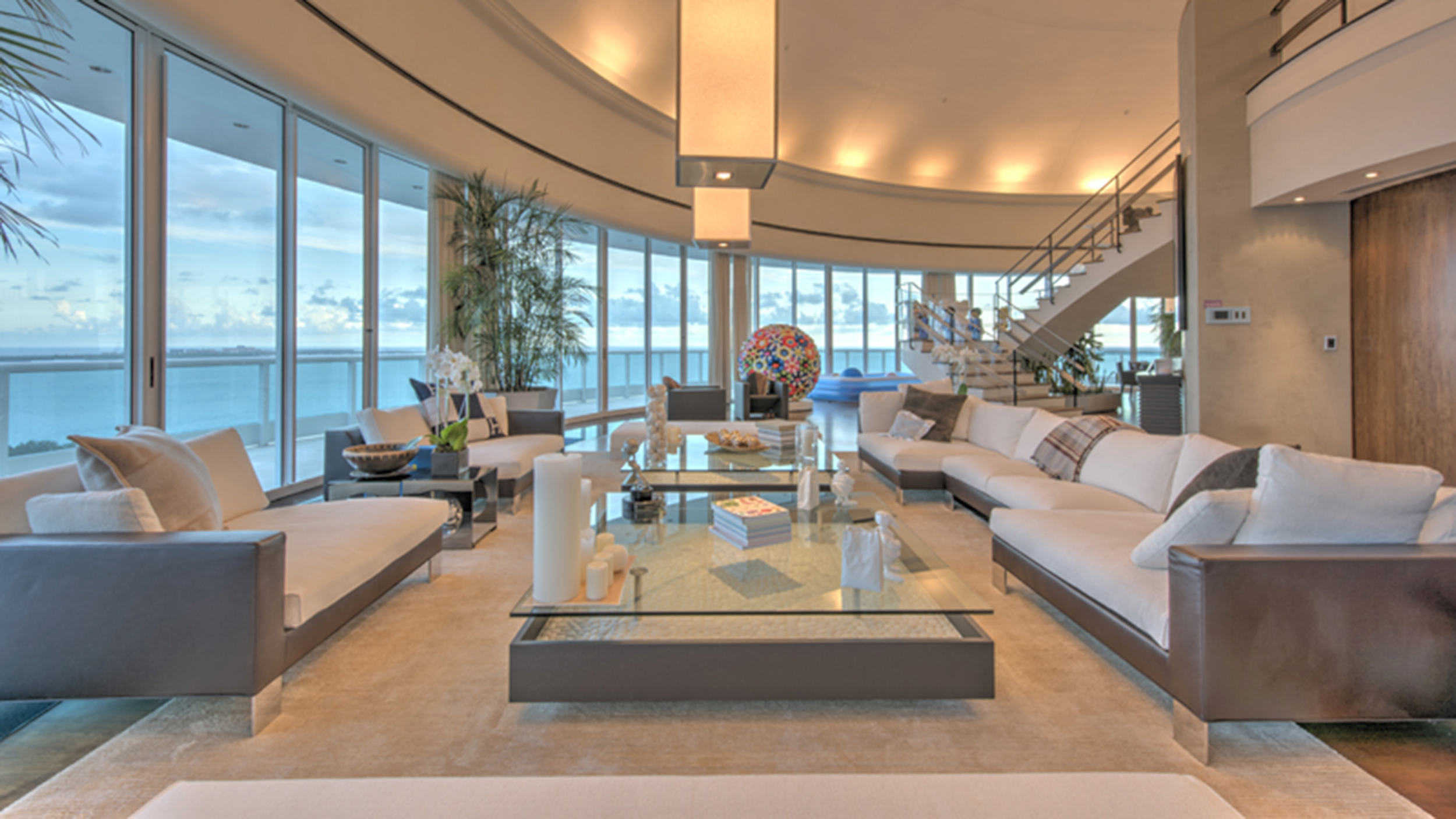 Pharrell sells his miami apartment see inside for Living room today