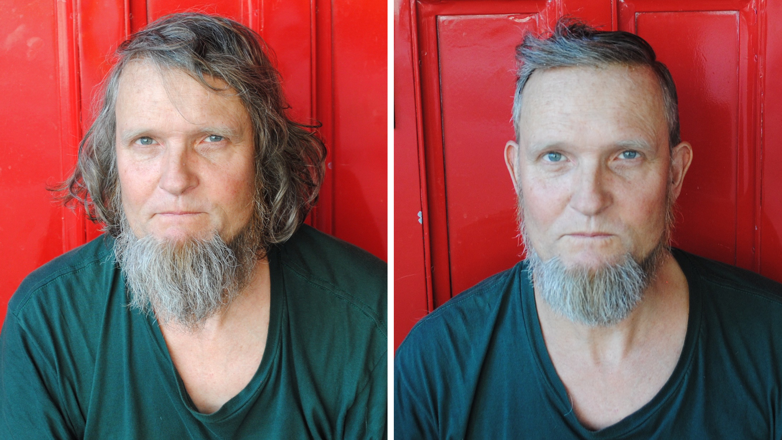 Celebrity hairstylist gives homeless people fresh cuts — and a