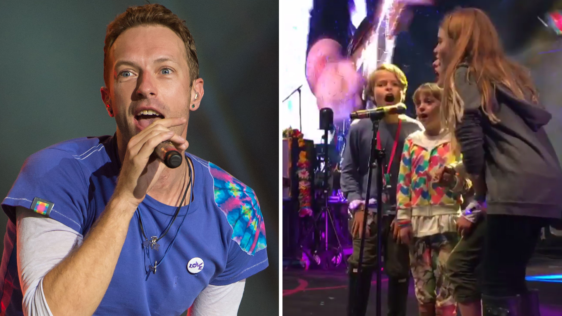 All In The Family See Chris Martin S Kids Apple Moses