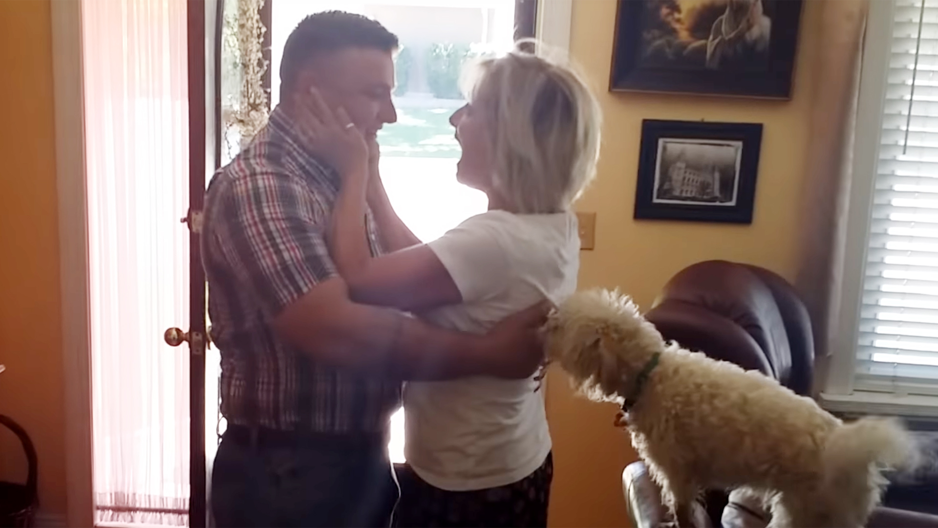 military mom freaks out after seeing son for the first time in five
