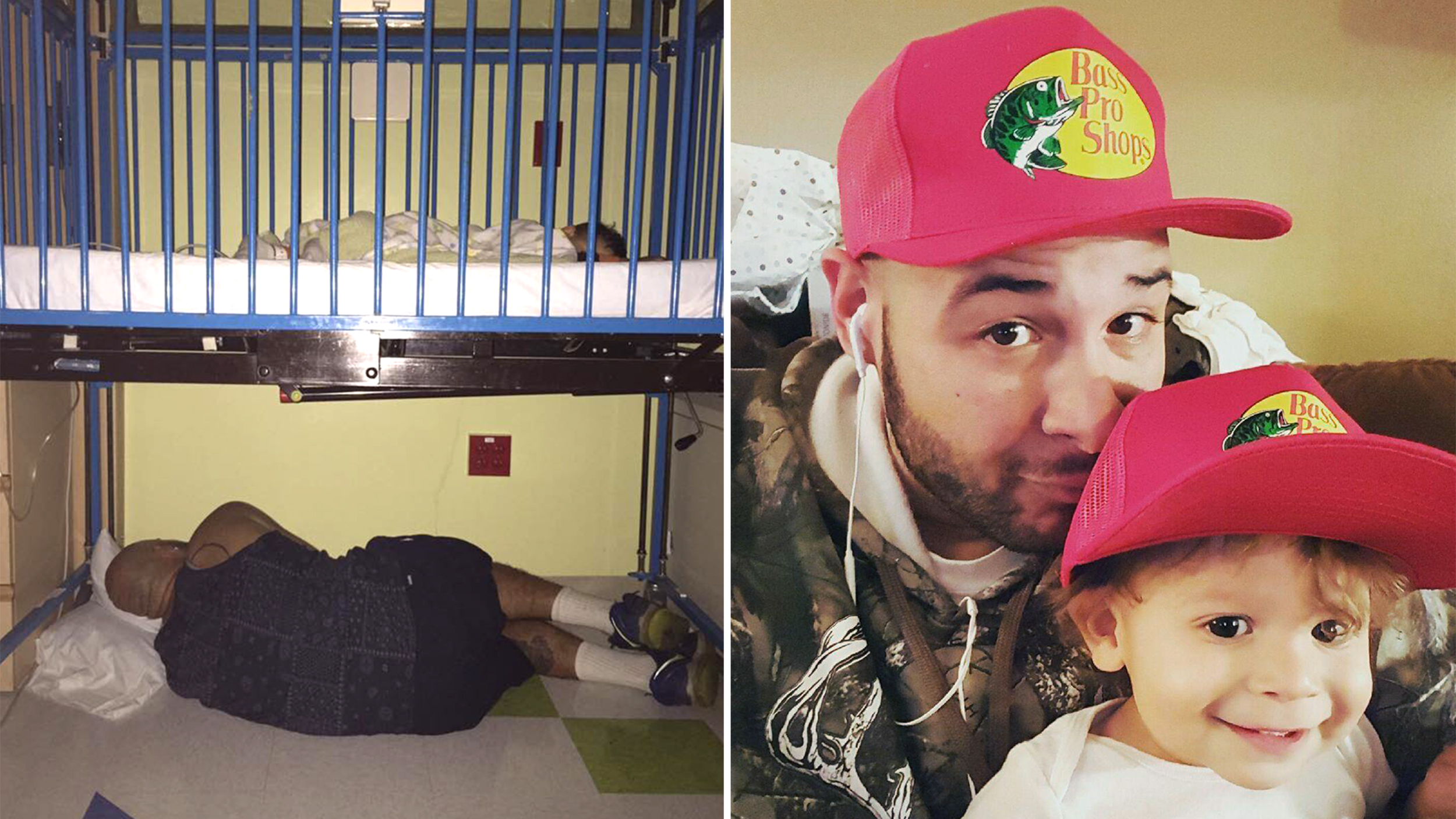Exhausted Dad Sleeps Under Son S Hospital Bed After
