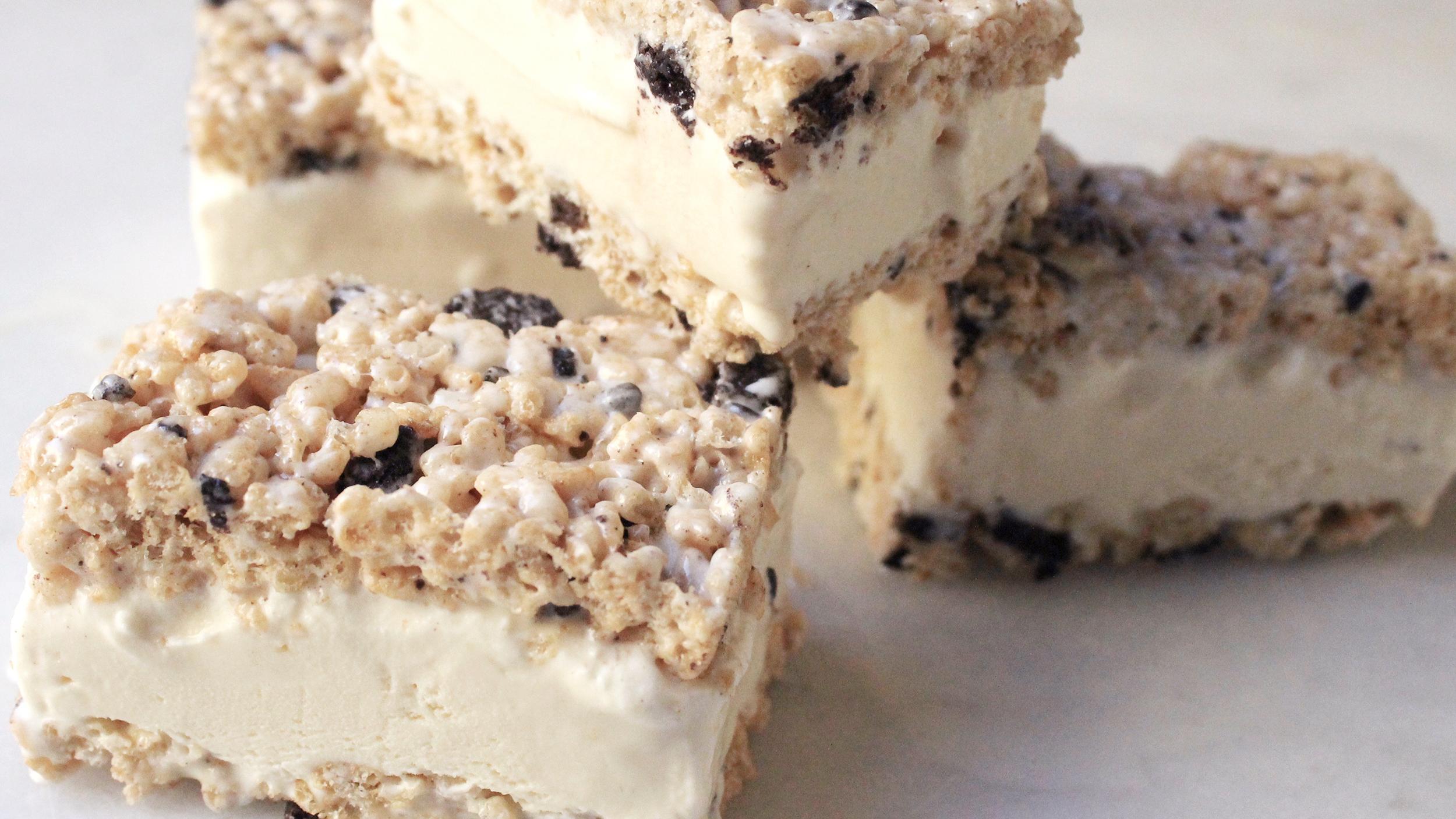 Cookies & Cream Rice Krispies Treat Ice Cream Sandwiches ...