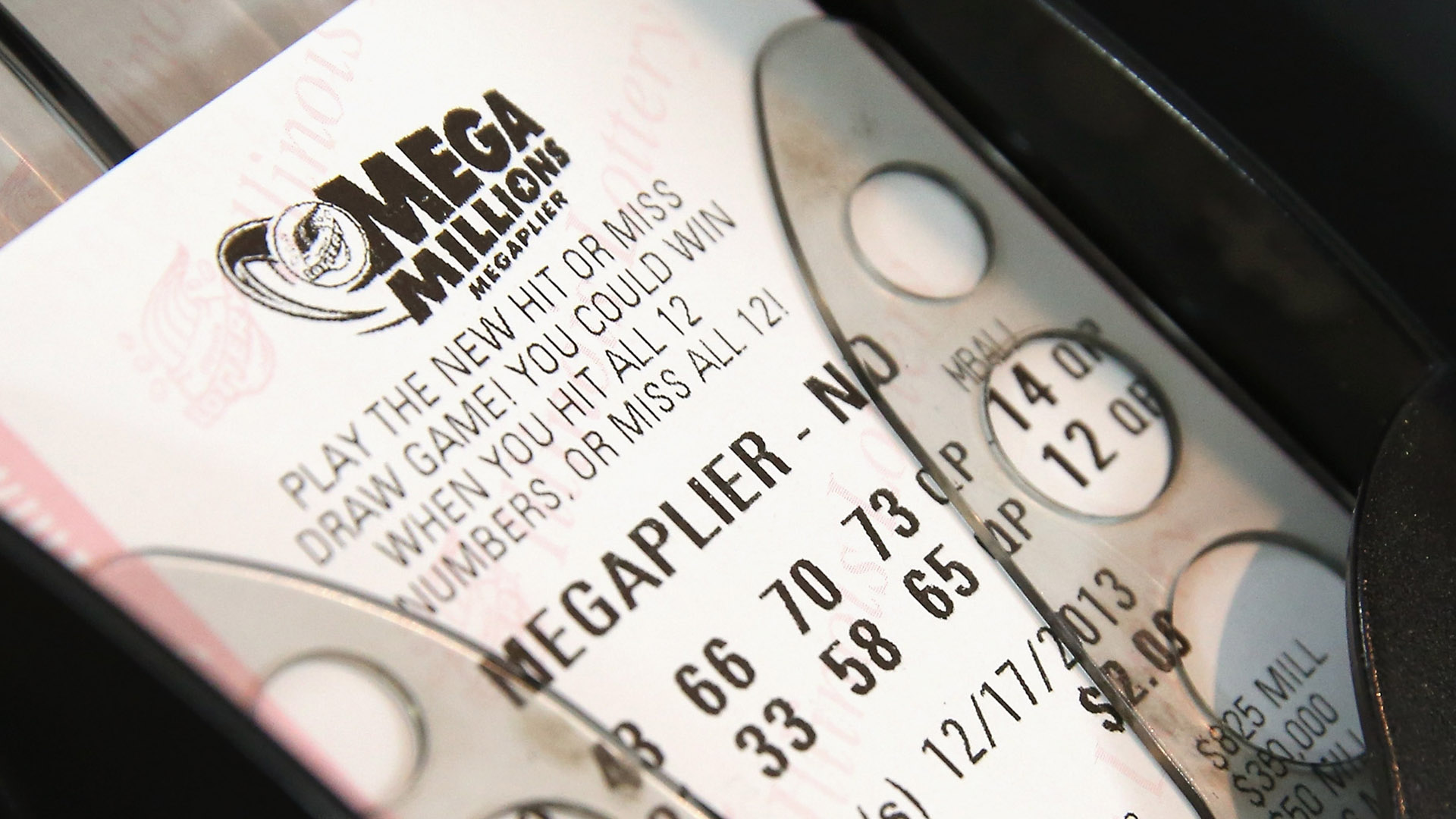 how to read mega millions ticket